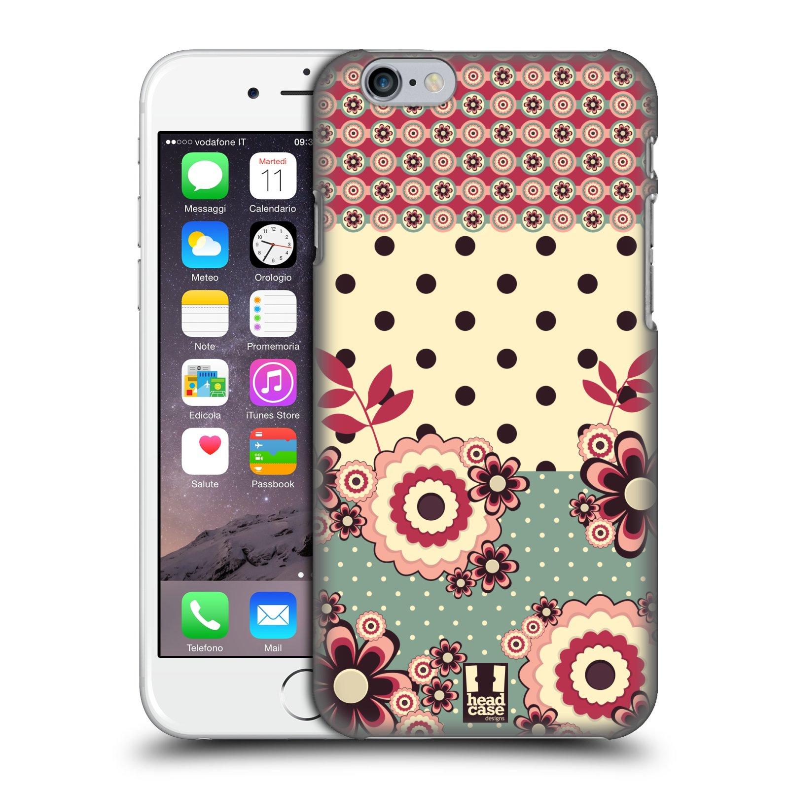 Plastové pouzdro na mobil Apple iPhone 6 a 6S HEAD CASE KVÍTKA PINK CREAM (Kryt či obal na mobilní telefon Apple iPhone 6 a 6S)