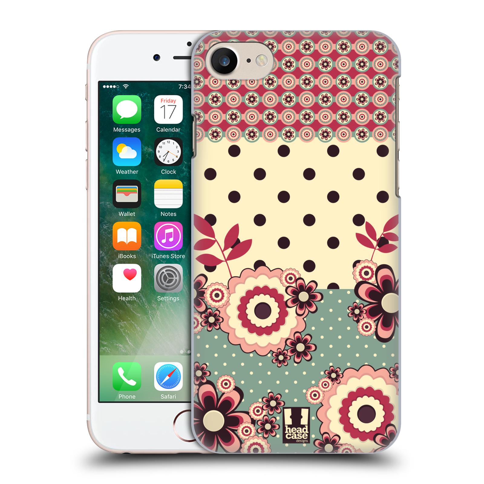 Plastové pouzdro na mobil Apple iPhone 7 HEAD CASE KVÍTKA PINK CREAM (Plastový kryt či obal na mobilní telefon Apple iPhone 7)