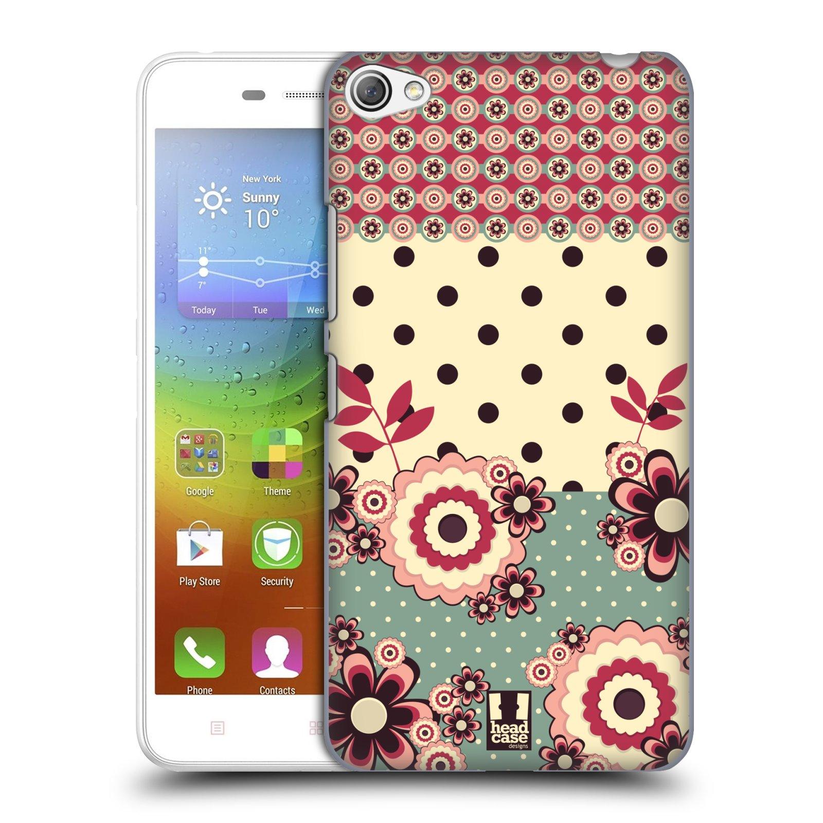 Plastové pouzdro na mobil Lenovo S60 HEAD CASE KVÍTKA PINK CREAM (Kryt či obal na mobilní telefon Lenovo S60)