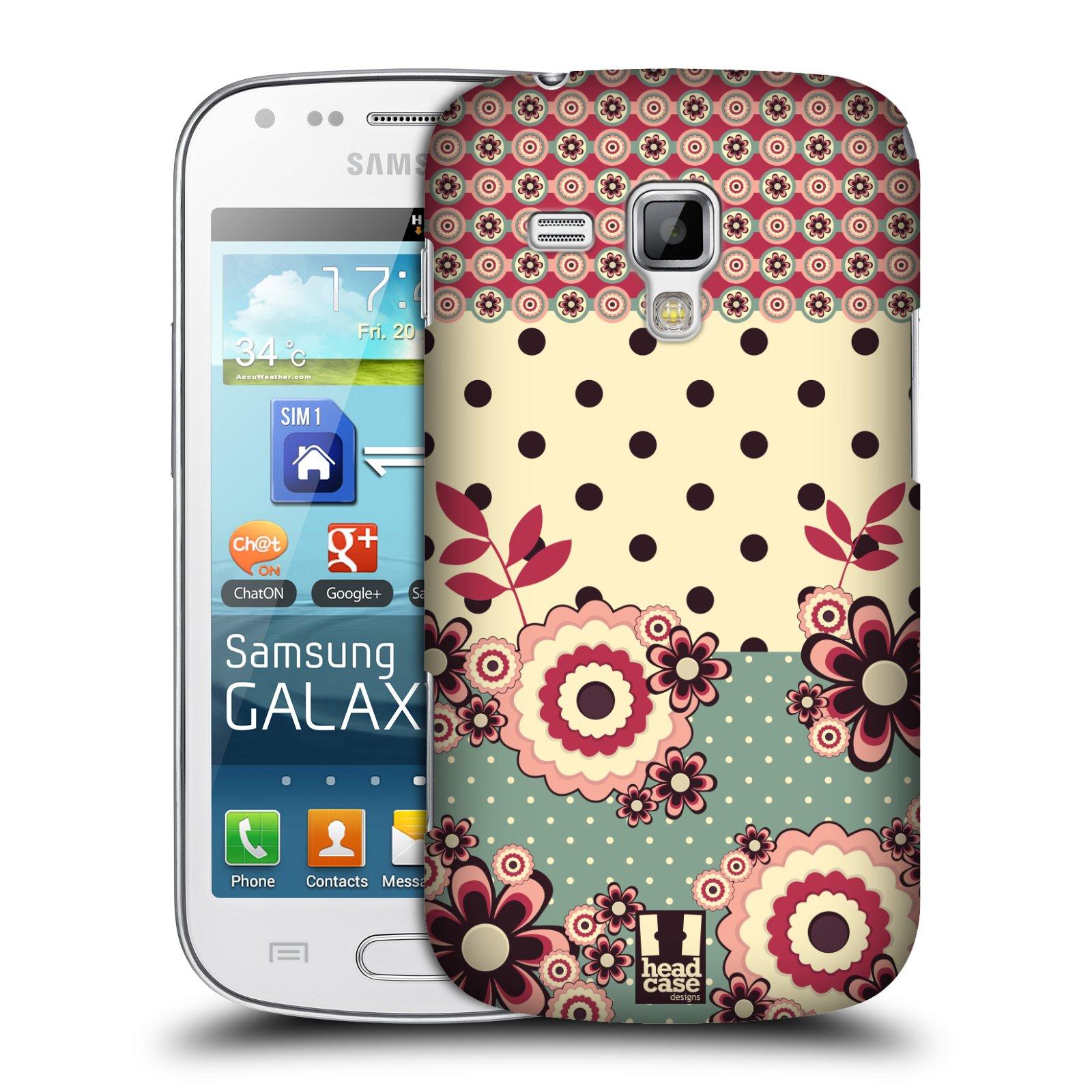 Plastové pouzdro na mobil Samsung Galaxy Trend Plus HEAD CASE KVÍTKA PINK CREAM