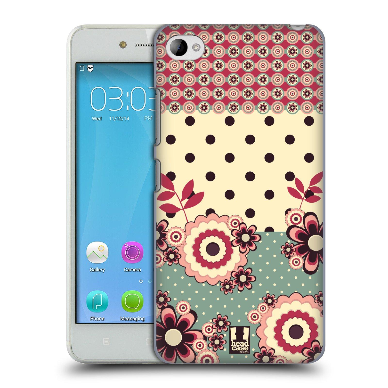 Plastové pouzdro na mobil Lenovo S90 HEAD CASE KVÍTKA PINK CREAM (Kryt či obal na mobilní telefon Lenovo S90)