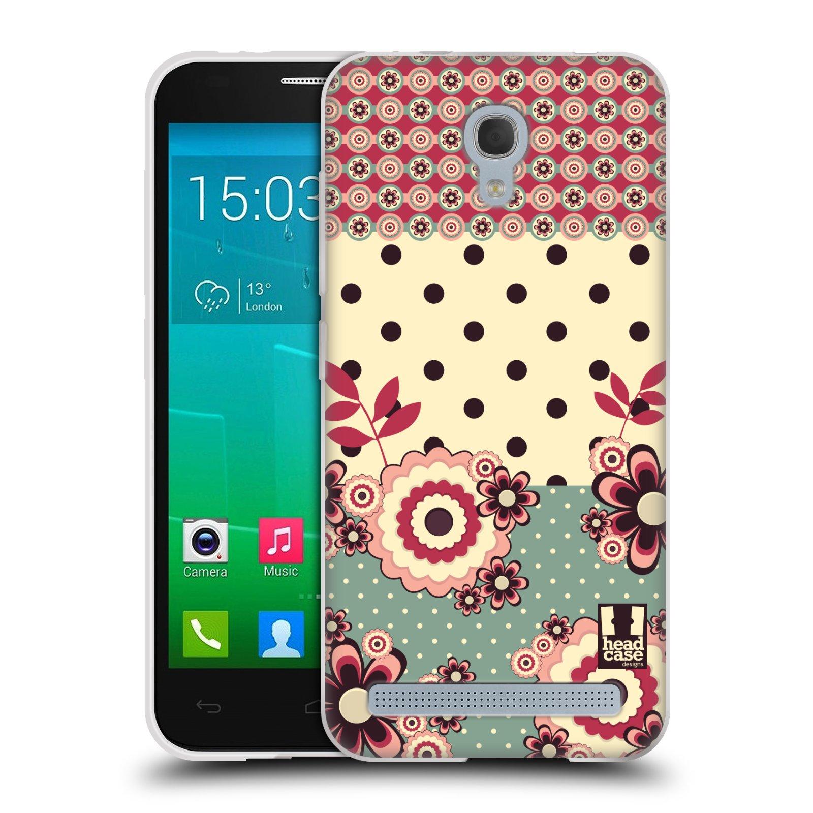 Silikonové pouzdro na mobil Alcatel One Touch Idol 2 Mini S 6036Y HEAD CASE KVÍTKA PINK CREAM (Silikonový kryt či obal na mobilní telefon Alcatel Idol 2 Mini S OT-6036Y)