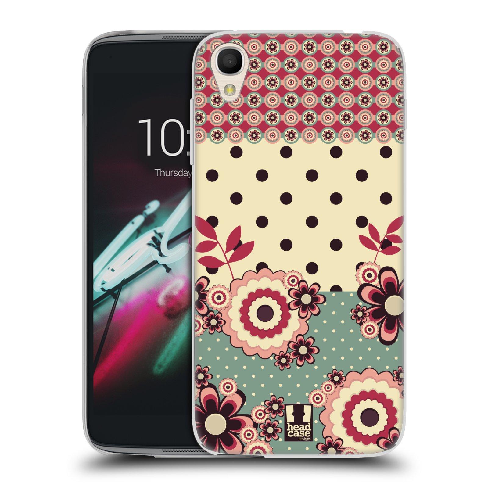 """Silikonové pouzdro na mobil Alcatel One Touch 6039Y Idol 3 HEAD CASE KVÍTKA PINK CREAM (Silikonový kryt či obal na mobilní telefon Alcatel One Touch Idol 3 OT-6039Y s 4,7"""" displejem)"""