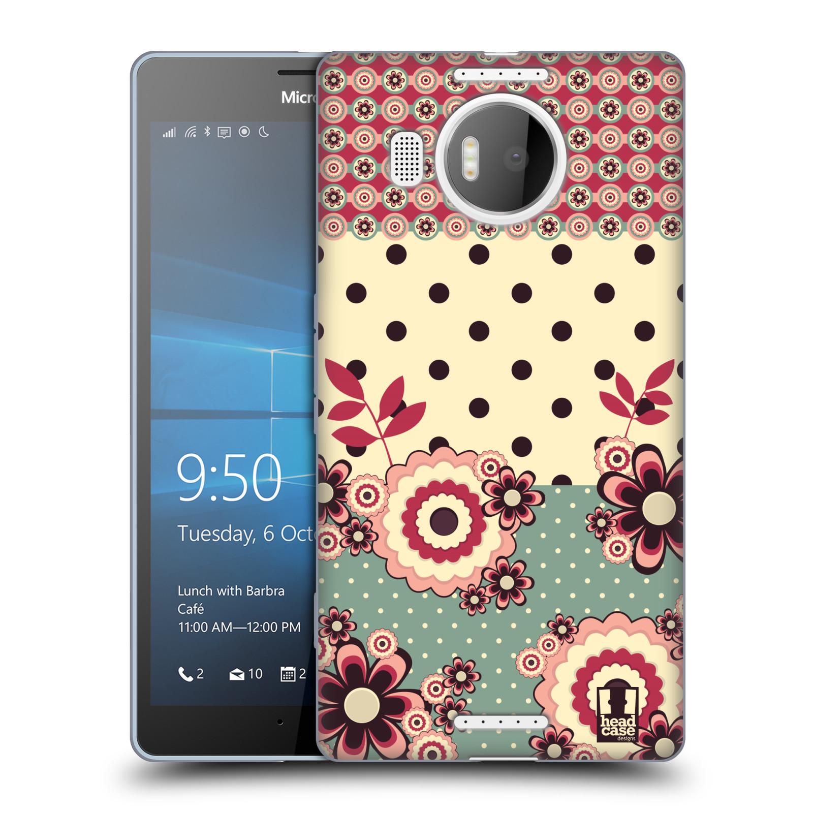 Silikonové pouzdro na mobil Microsoft Lumia 950 XL HEAD CASE KVÍTKA PINK CREAM