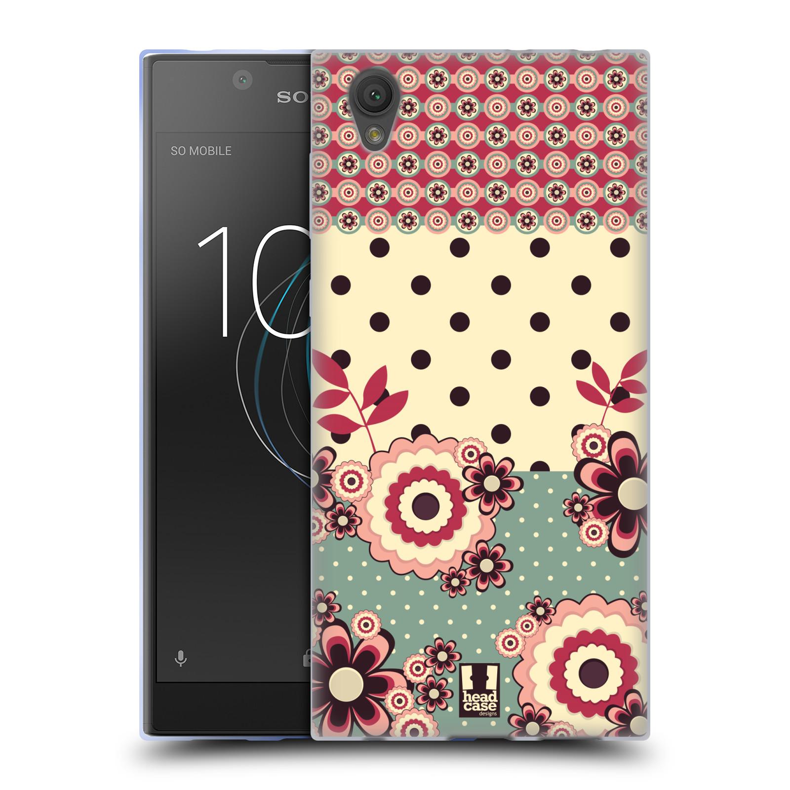 Silikonové pouzdro na mobil Sony Xperia L1 - Head Case - KVÍTKA PINK CREAM (Silikonový kryt či obal na mobilní telefon Sony Xperia L1 G3311 s motivem KVÍTKA PINK CREAM)