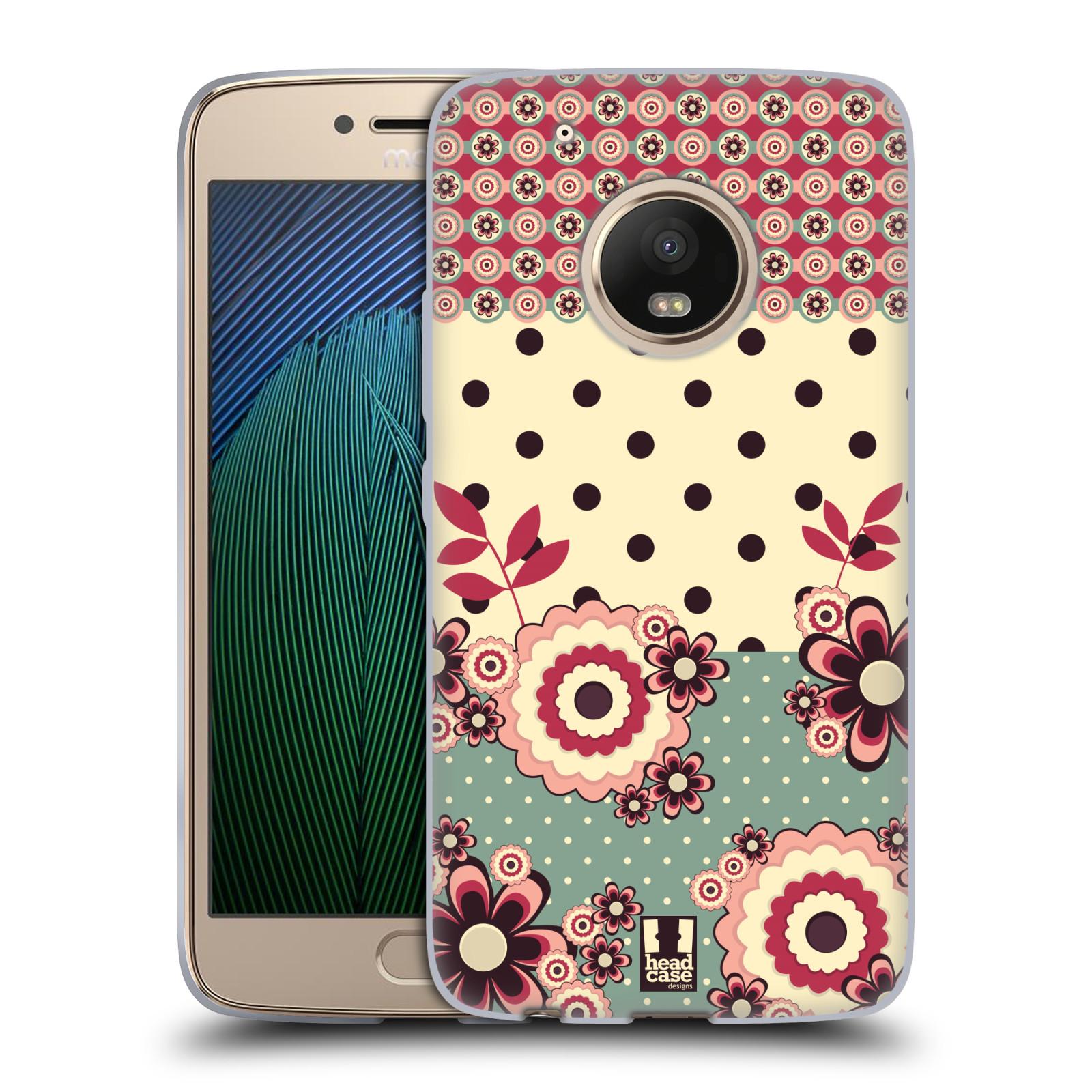 Silikonové pouzdro na mobil Lenovo Moto G5 Plus - Head Case KVÍTKA PINK CREAM (Silikonový kryt či obal na mobilní telefon Lenovo Moto G5 Plus)