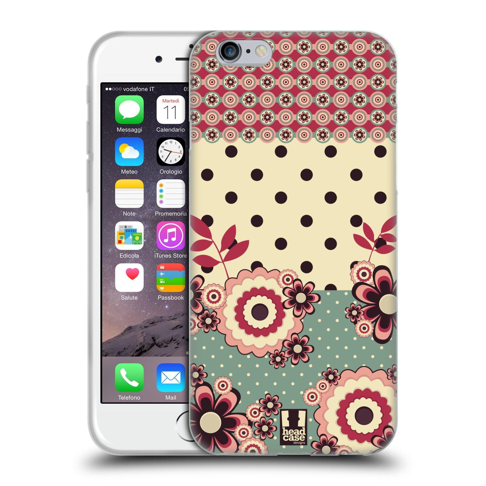 Silikonové pouzdro na mobil Apple iPhone 6 a 6S HEAD CASE KVÍTKA PINK CREAM (Silikonový kryt či obal na mobilní telefon Apple iPhone 6 a 6S)