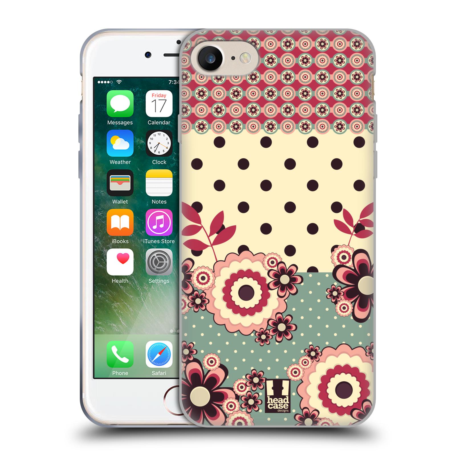 Silikonové pouzdro na mobil Apple iPhone 7 HEAD CASE KVÍTKA PINK CREAM (Silikonový kryt či obal na mobilní telefon Apple iPhone 7)
