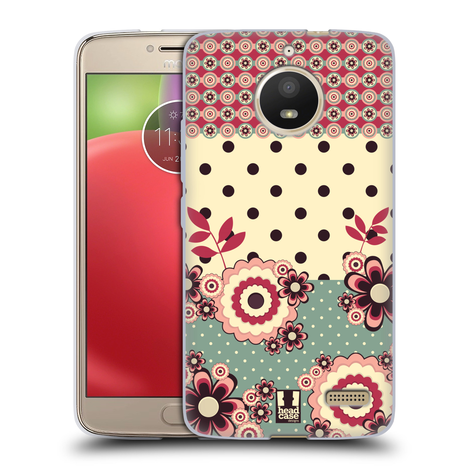 Silikonové pouzdro na mobil Lenovo Moto E4 - Head Case - KVÍTKA PINK CREAM (Silikonový kryt či obal na mobilní telefon Lenovo Moto E4 s motivem KVÍTKA PINK CREAM)