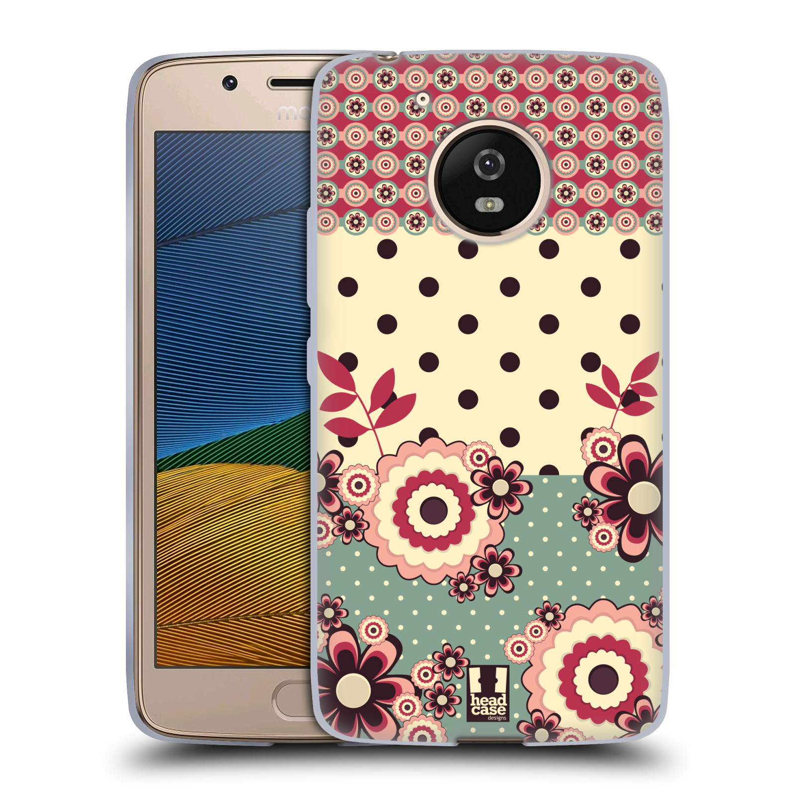 Silikonové pouzdro na mobil Lenovo Moto G5 - Head Case KVÍTKA PINK CREAM (Silikonový kryt či obal na mobilní telefon Lenovo Moto G5)
