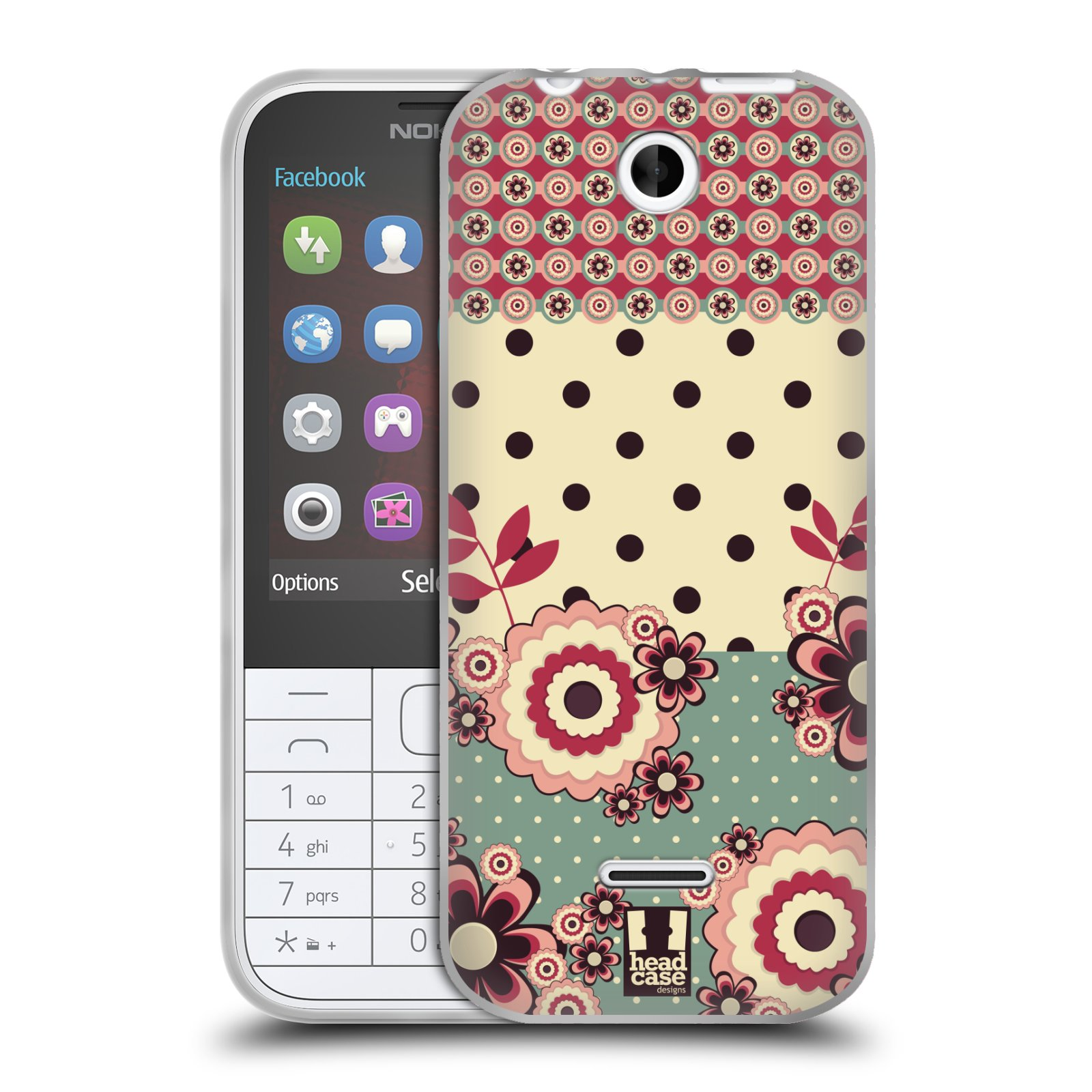 Silikonové pouzdro na mobil Nokia 225 HEAD CASE KVÍTKA PINK CREAM (Silikonový kryt či obal na mobilní telefon Nokia 225)