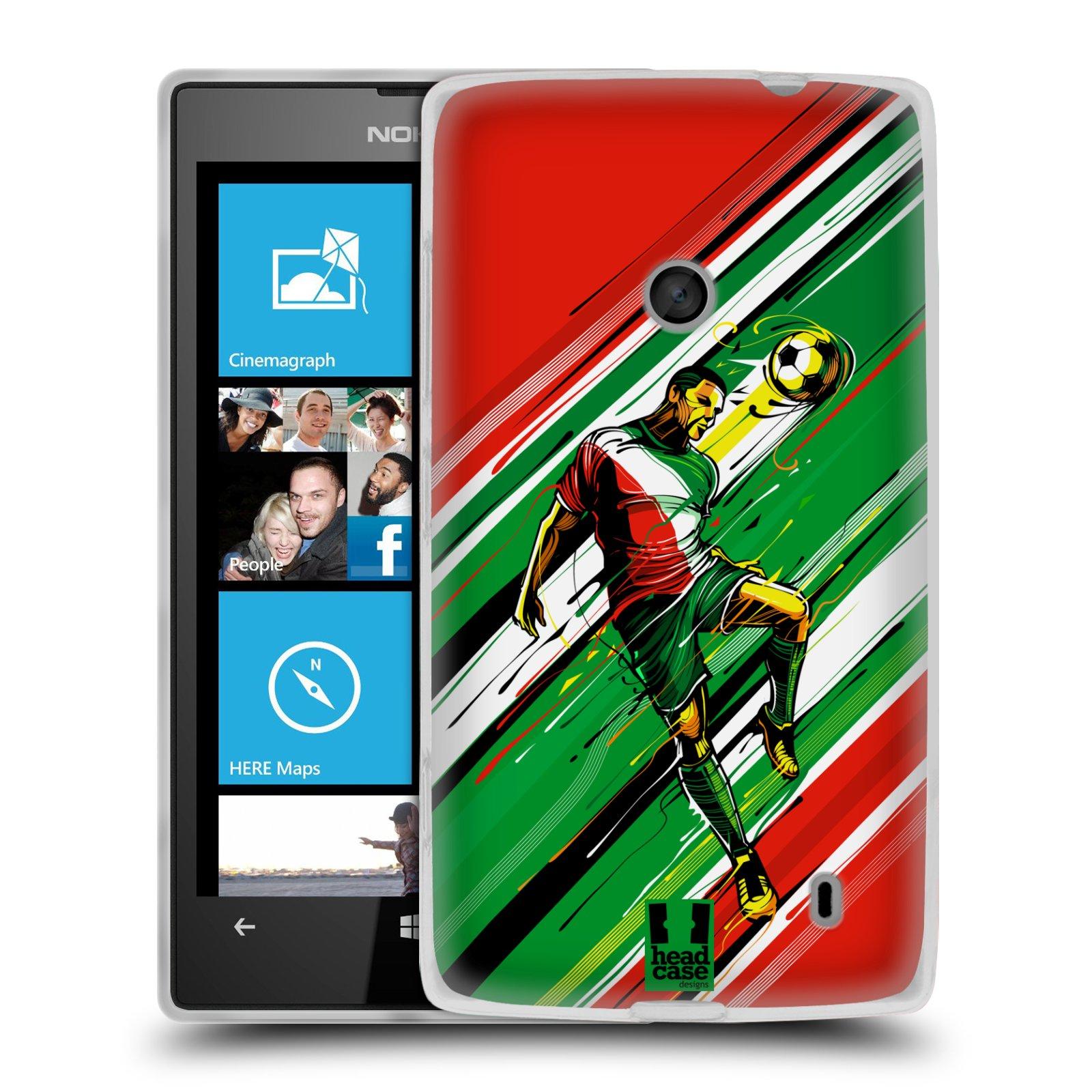 Silikonové pouzdro na mobil Nokia Lumia 520 HEAD CASE HLAVIČKA (Silikonový Kryt či obal na mobilní telefon Nokia Lumia 520)