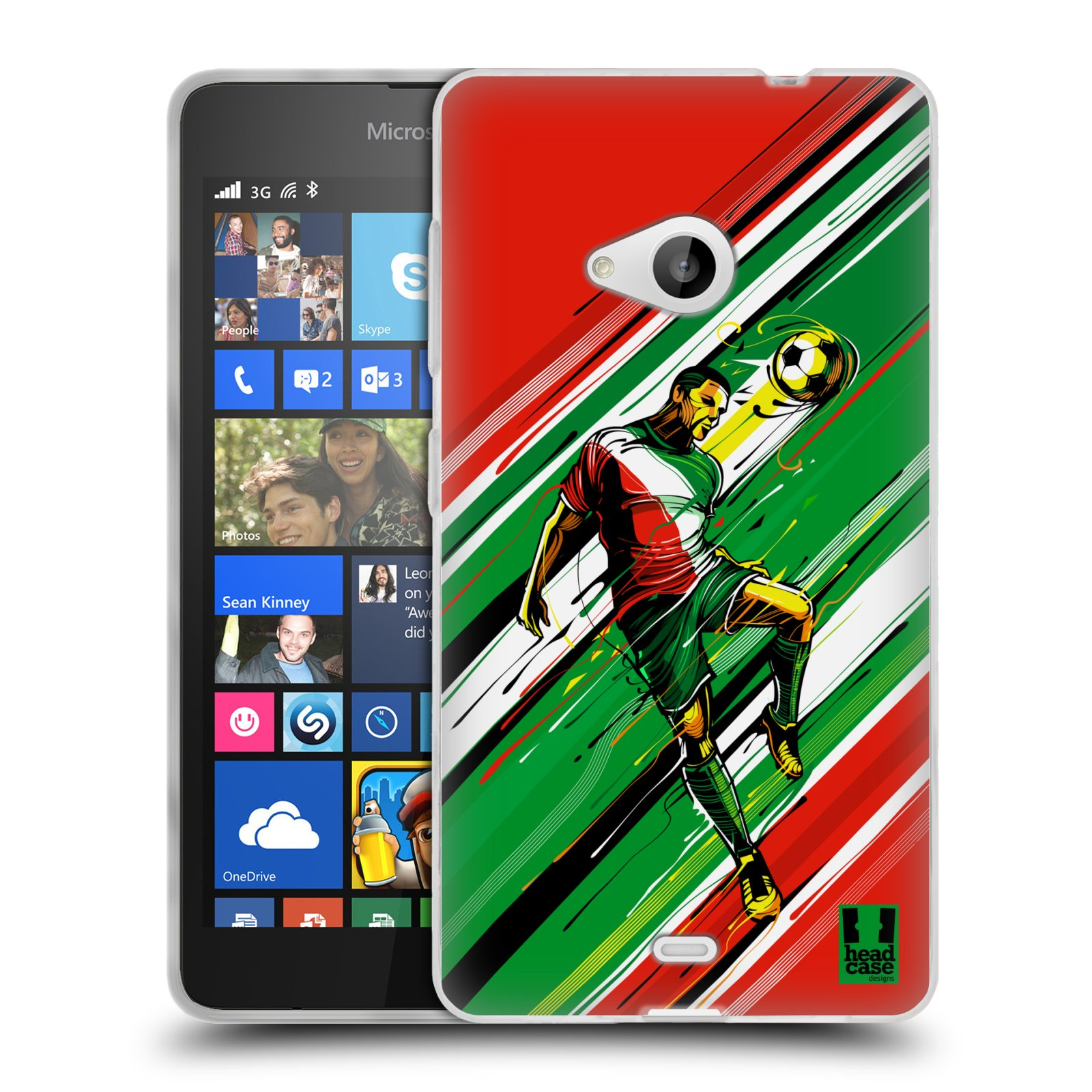 Silikonové pouzdro na mobil Microsoft Lumia 535 HEAD CASE HLAVIČKA (Silikonový kryt či obal na mobilní telefon Microsoft Lumia 535)