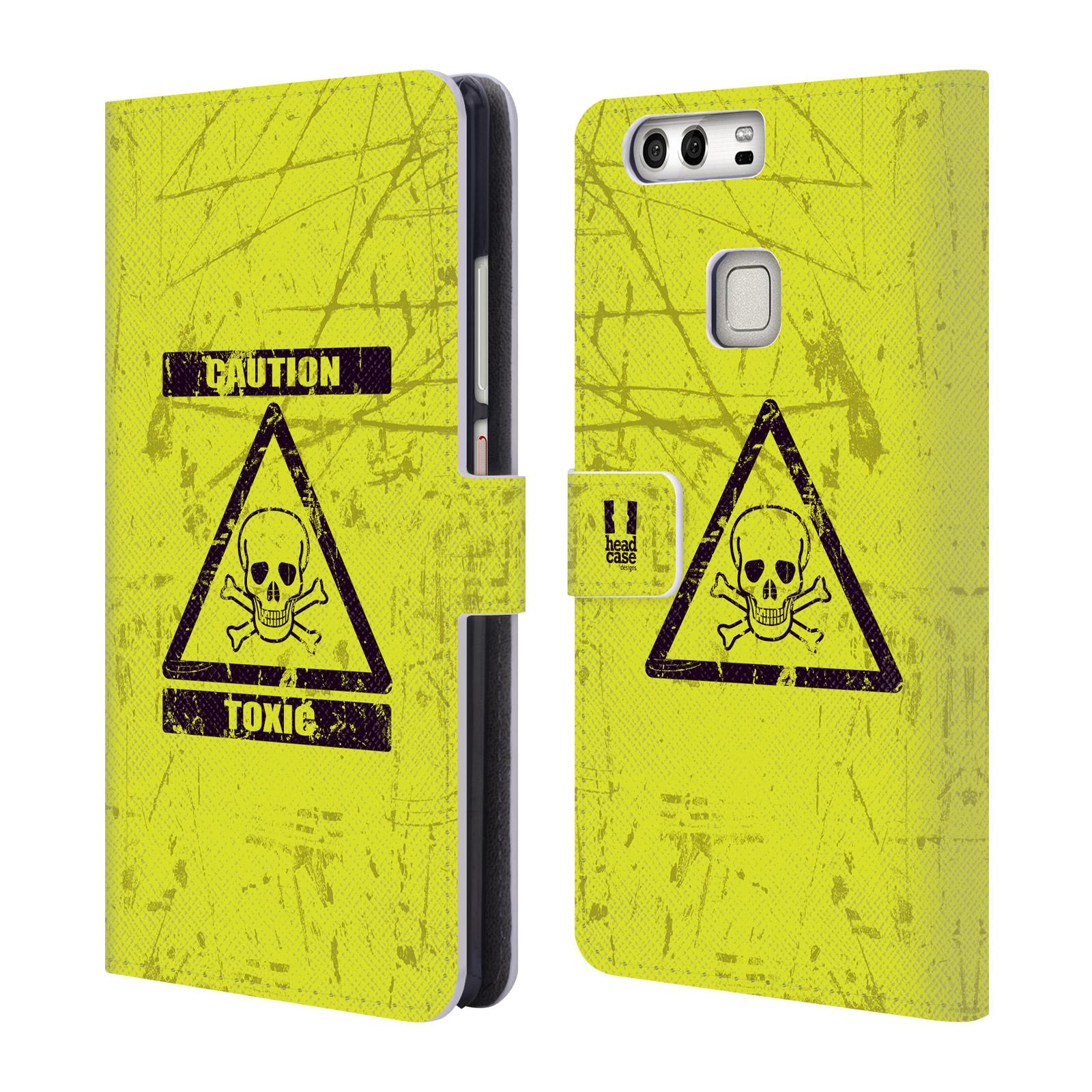 Flipové pouzdro na mobil Huawei P9 Plus HEAD CASE Toxic (Flipový vyklápěcí kryt či obal z umělé kůže na mobilní telefon Huawei P9 Plus)