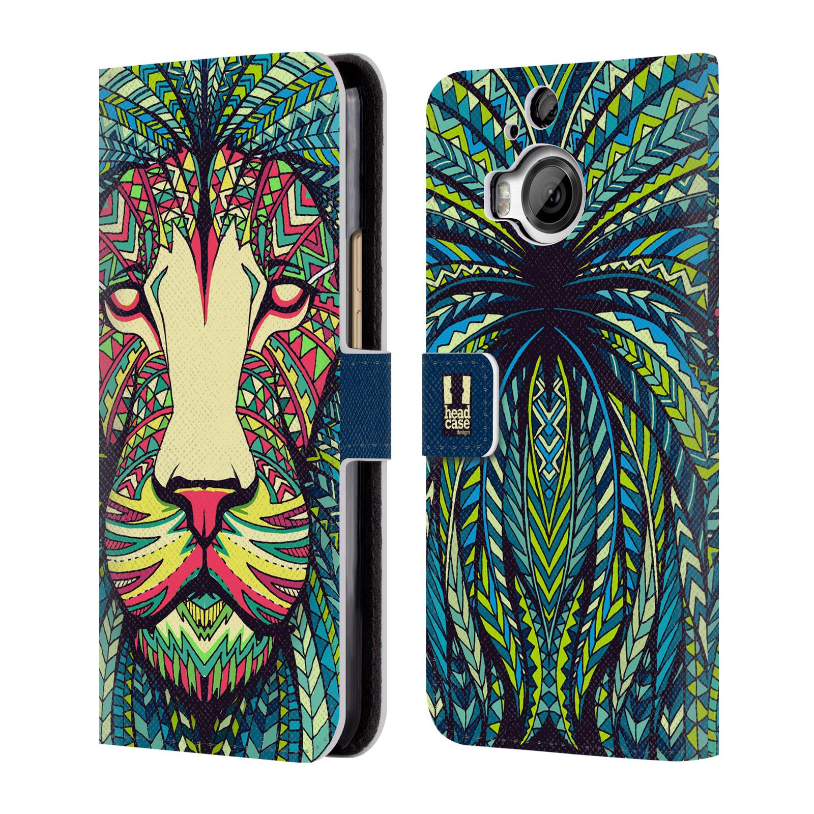 Flipové pouzdro na mobil HTC One M9+ (Plus) HEAD CASE Aztec Lev (Flipový vyklápěcí kryt či obal z umělé kůže na mobilní telefon HTC One M9+)