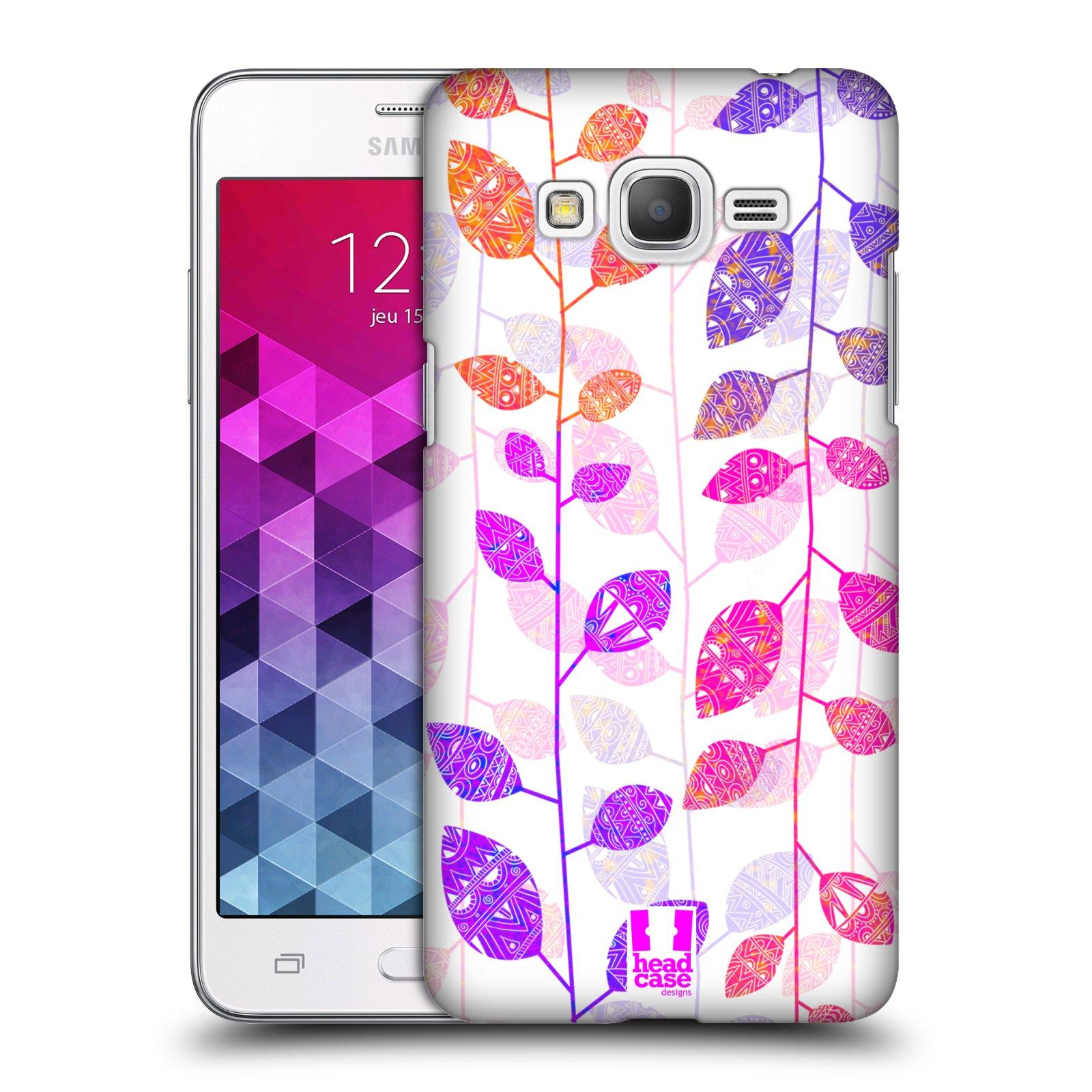 Plastové pouzdro na mobil Samsung Galaxy Grand Prime HEAD CASE AZTEC LÍSTKY