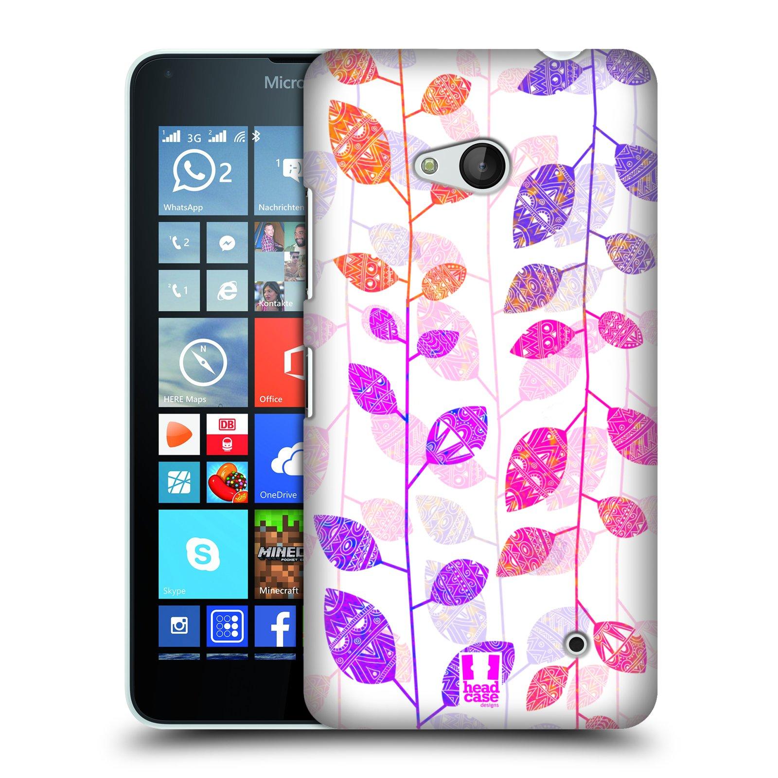Plastové pouzdro na mobil Microsoft Lumia 640 HEAD CASE AZTEC LÍSTKY