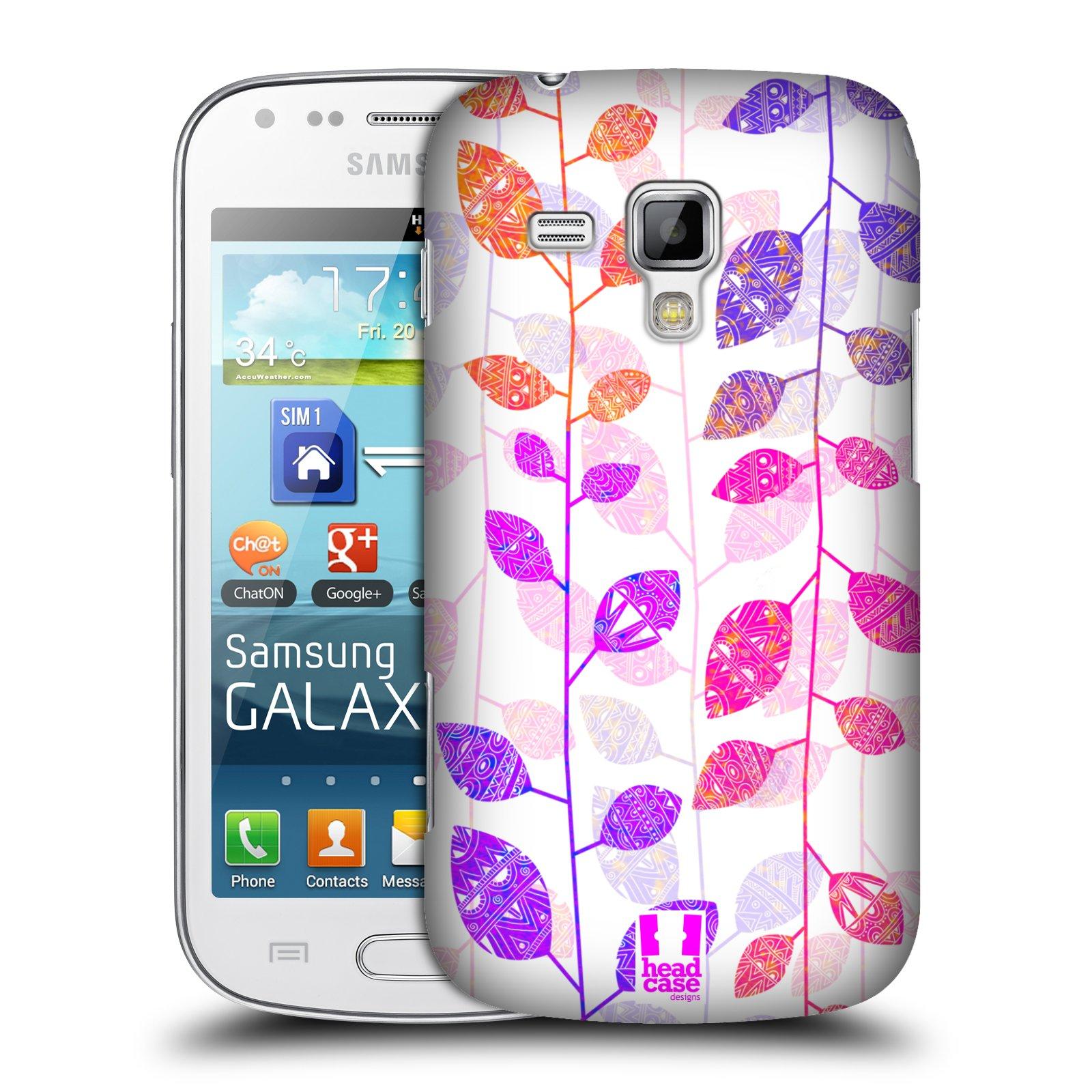 Plastové pouzdro na mobil Samsung Galaxy Trend Plus HEAD CASE AZTEC LÍSTKY