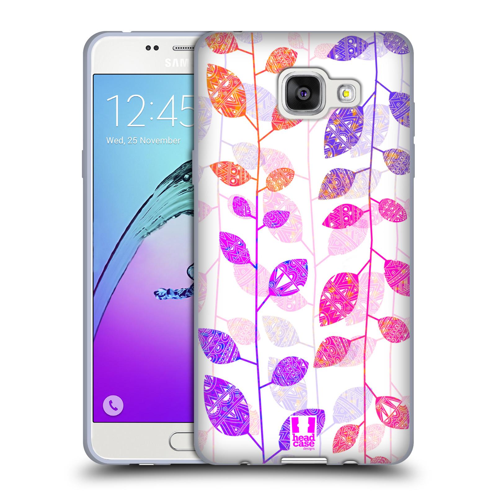 Silikonové pouzdro na mobil Samsung Galaxy A5 (2016) HEAD CASE AZTEC LÍSTKY