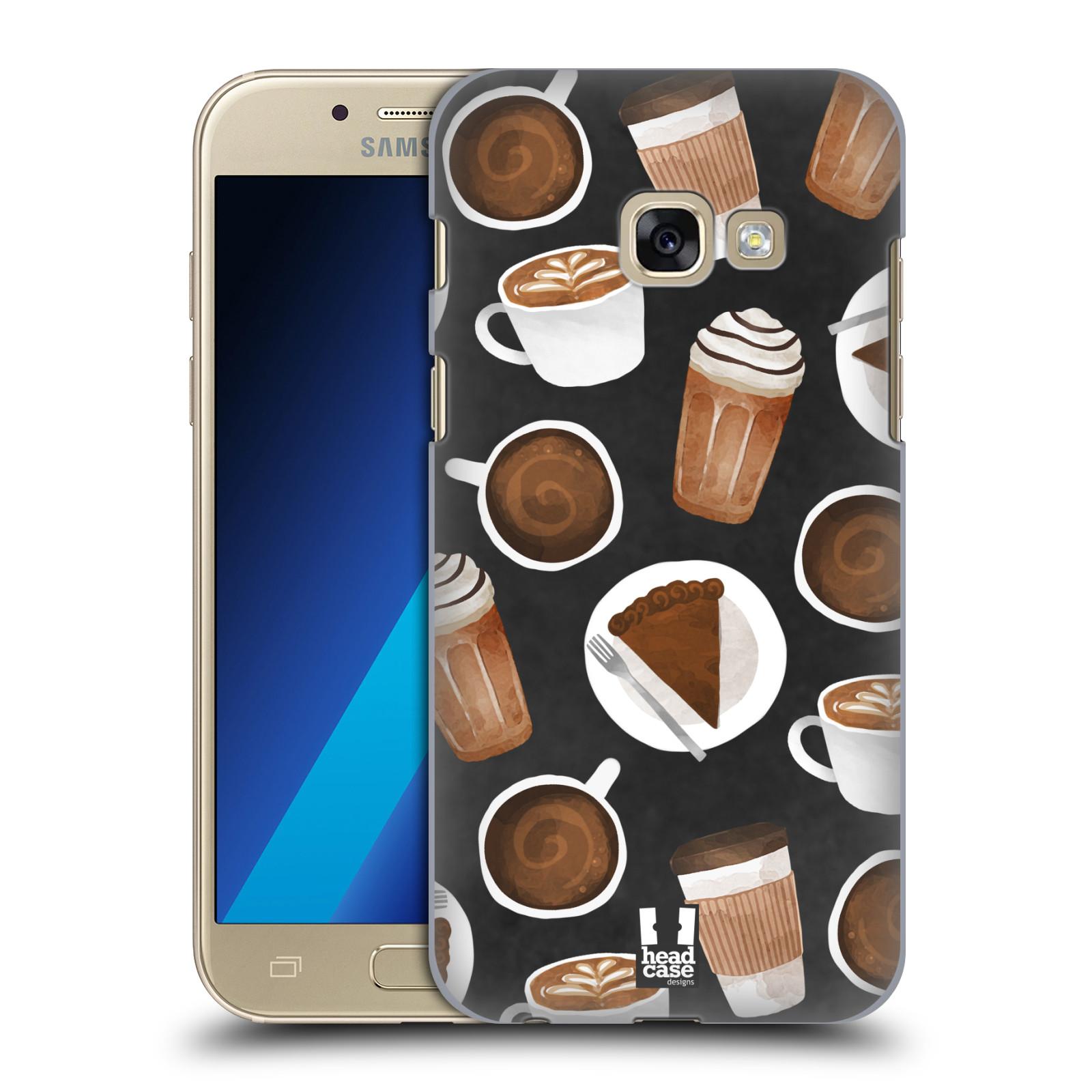 Plastové pouzdro na mobil Samsung Galaxy A3 (2017) Head Case - Kafíčka a dortík