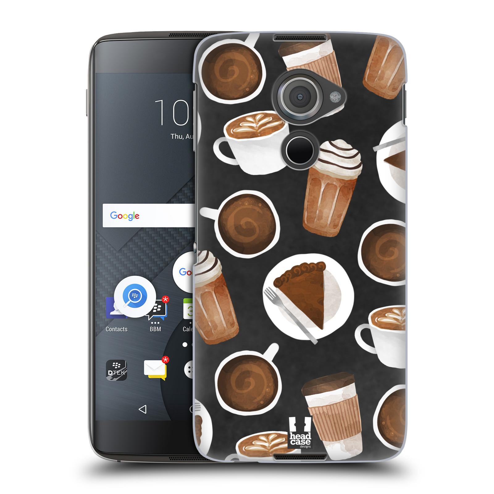 Plastové pouzdro na mobil Blackberry DTEK60 (Argon) - Head Case - Kafíčka a dortík (Plastový kryt či obal na mobilní telefon s motivem kafíček pro Blackberry DTEK60 (Argon))