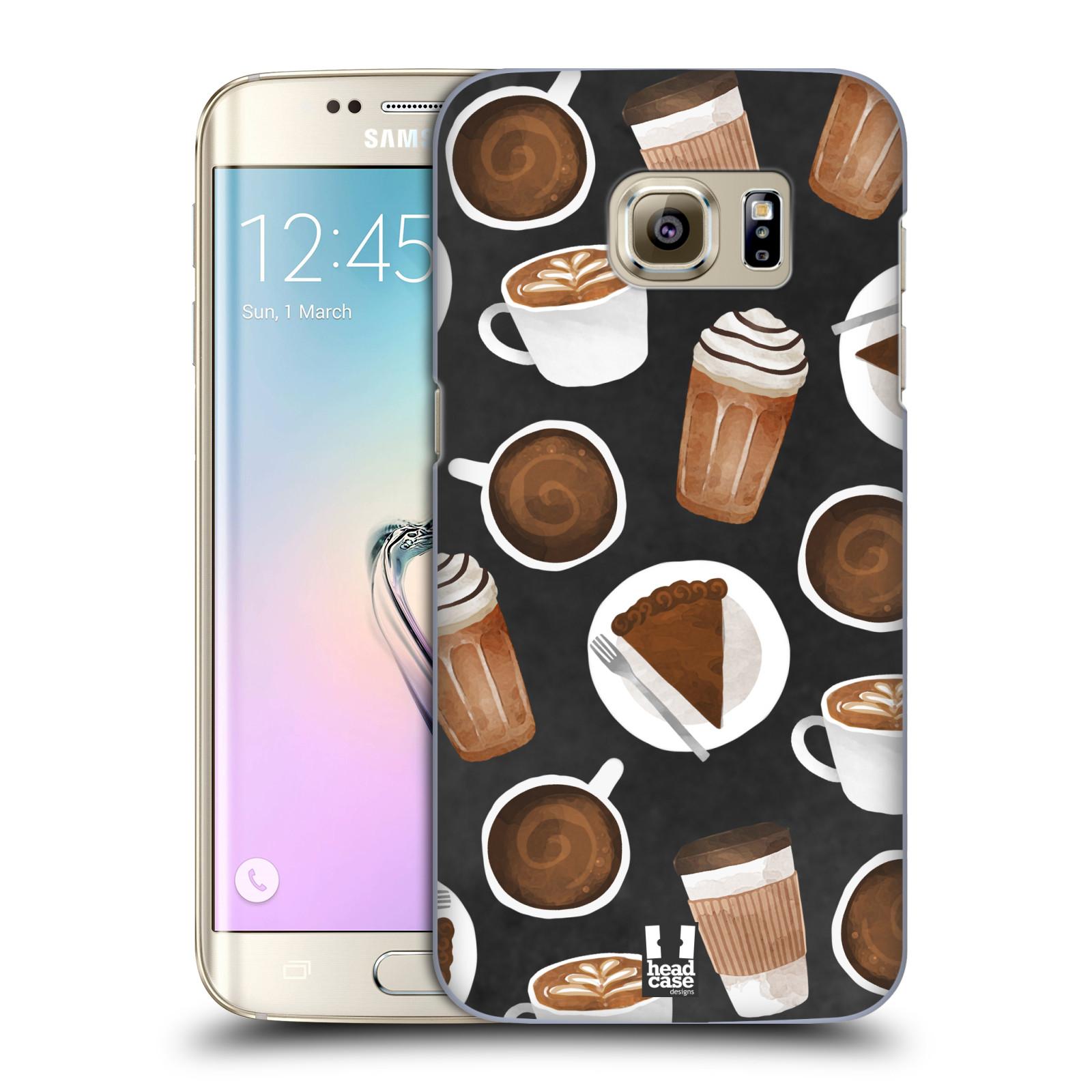 Plastové pouzdro na mobil Samsung Galaxy S7 Edge Head Case - Kafíčka a dortík