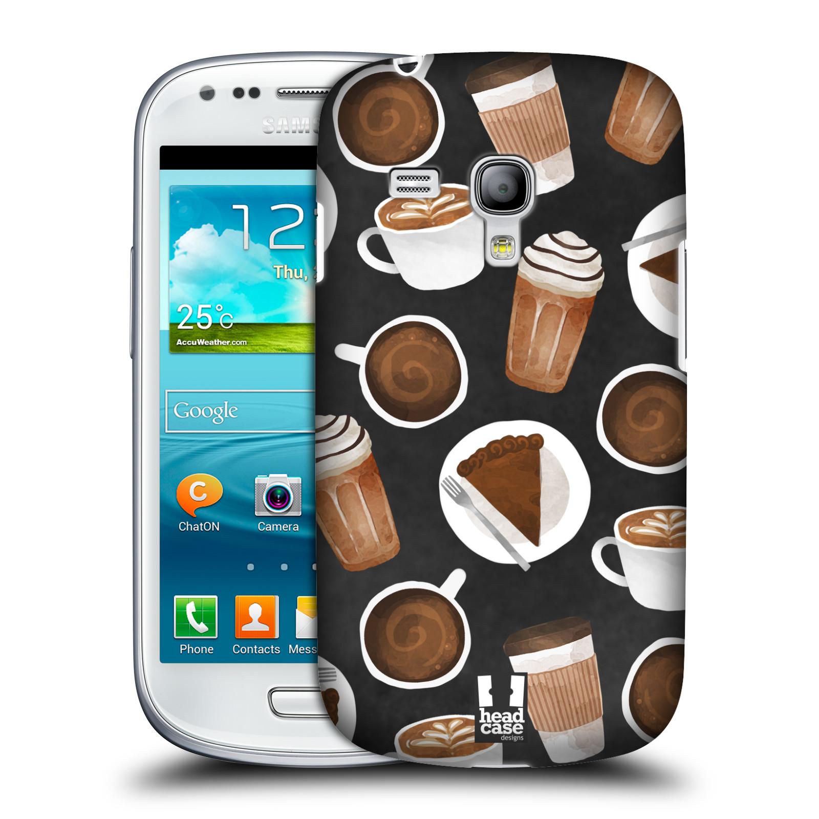 Silikonové pouzdro na mobil Samsung Galaxy S III Mini VE Head Case - Kafíčka a dortík (Plastový kryt či obal na mobilní telefon s motivem kafíček pro Samsung Galaxy S3 Mini VE GT-i8200)