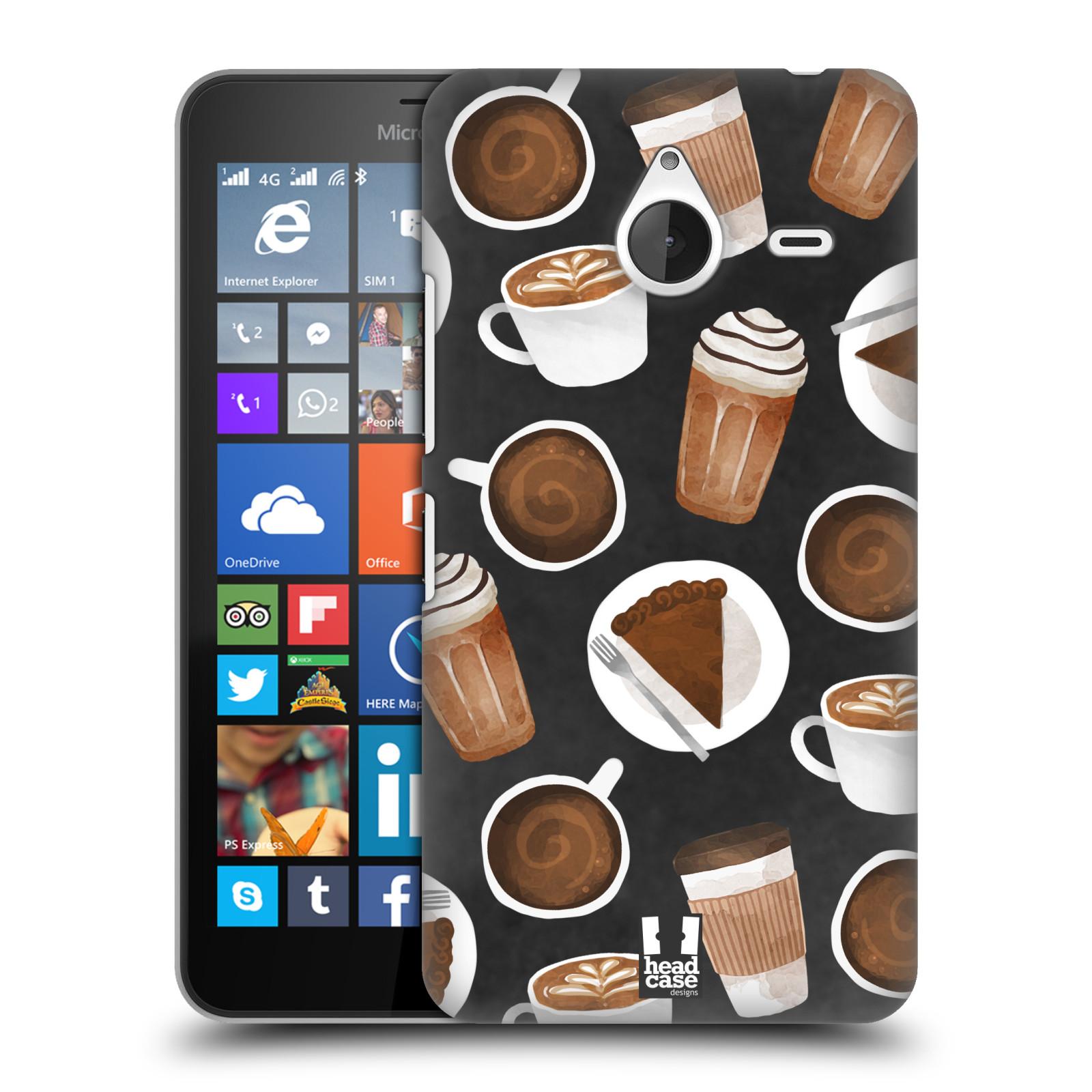 Plastové pouzdro na mobil Microsoft Lumia 640 XL Head Case - Kafíčka a dortík (Plastový kryt či obal na mobilní telefon s motivem kafíček pro Microsoft Lumia 640 XL)