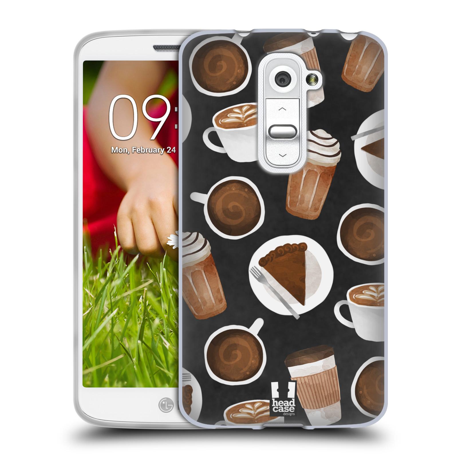 Silikonové pouzdro na mobil LG G2 Mini Head Case - Kafíčka a dortík (Silikonový kryt či obal na mobilní telefon s motivem kafíček pro LG G2 Mini D620)