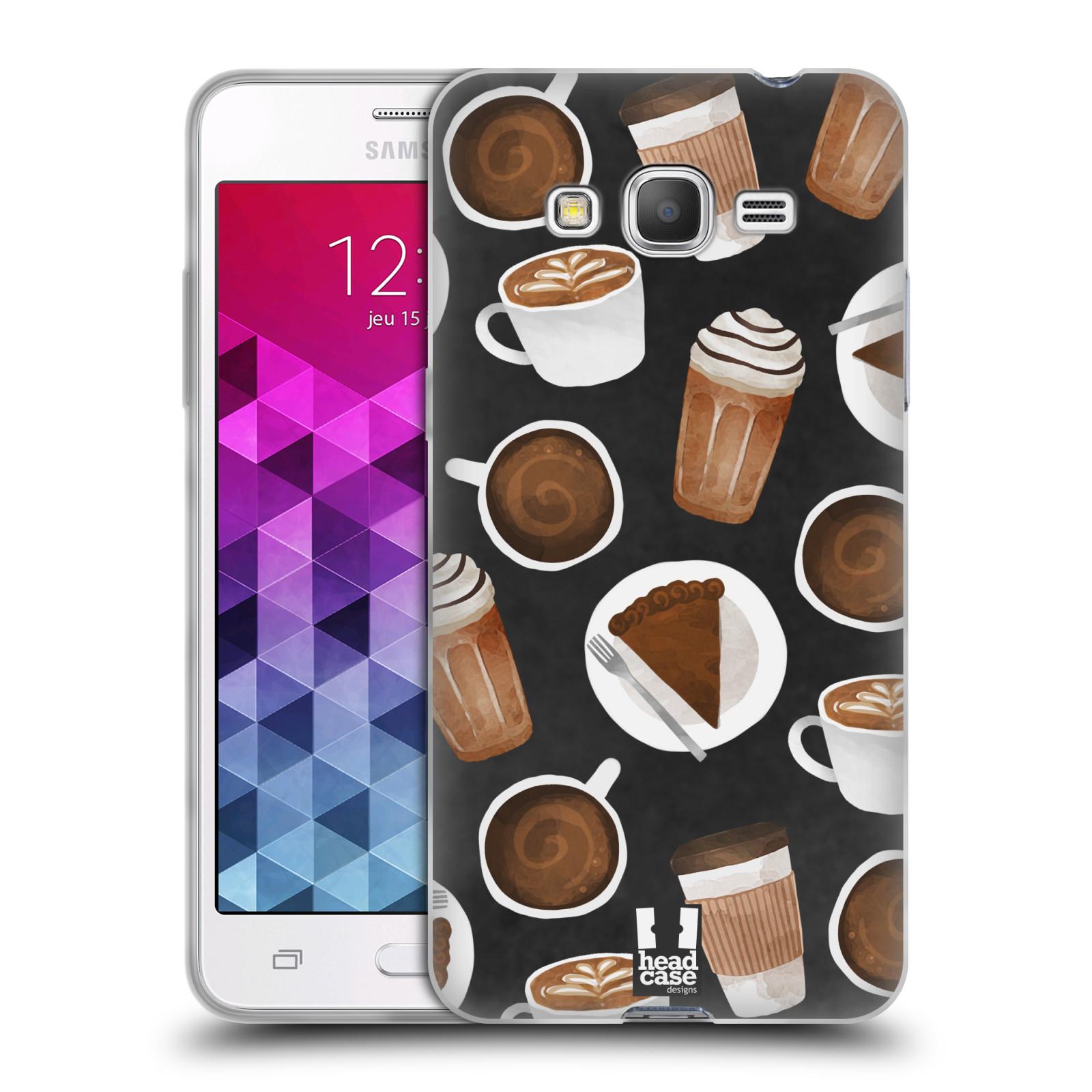 Silikonové pouzdro na mobil Samsung Galaxy Grand Prime VE Head Case - Kafíčka a dortík