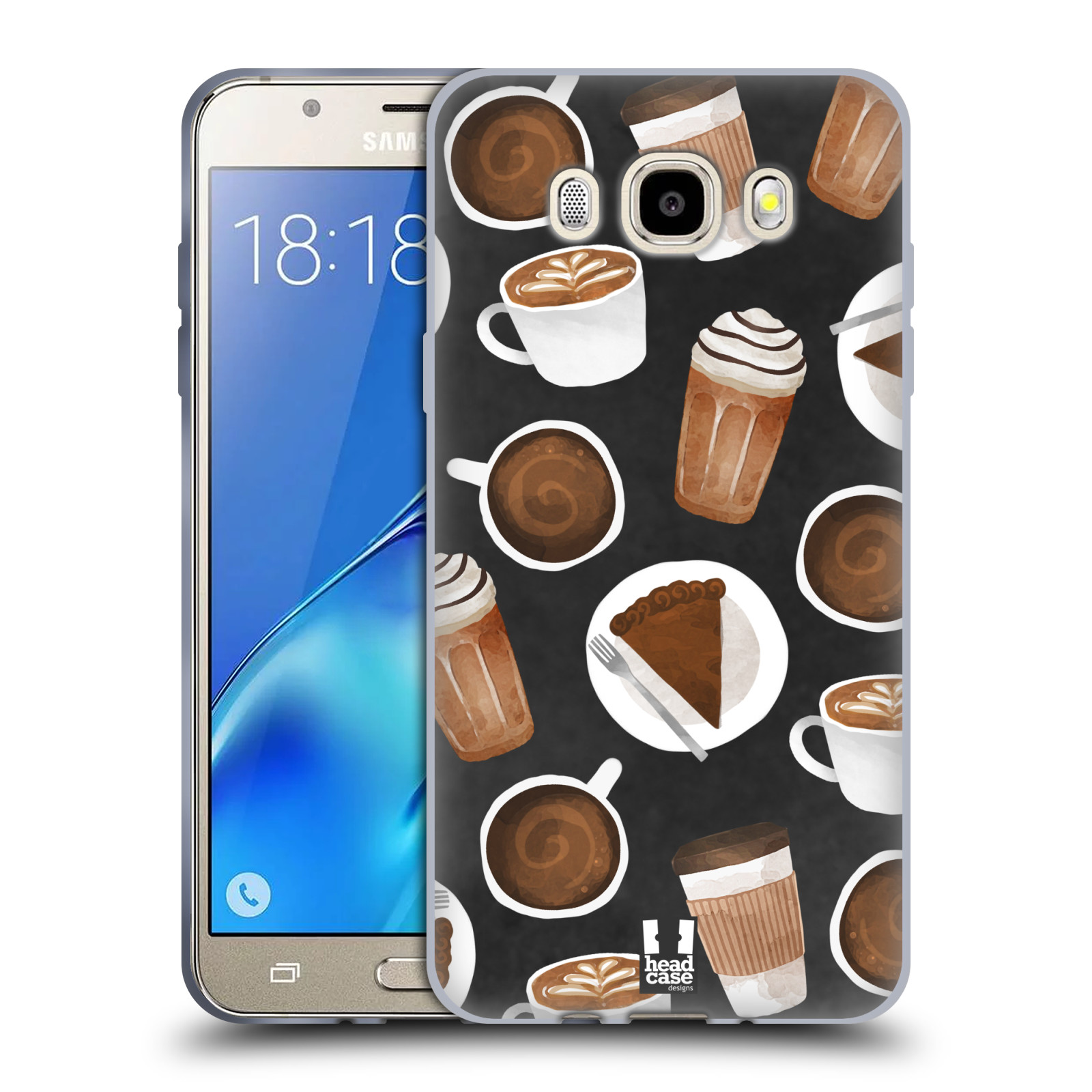 Silikonové pouzdro na mobil Samsung Galaxy J5 (2016) Head Case - Kafíčka a dortík