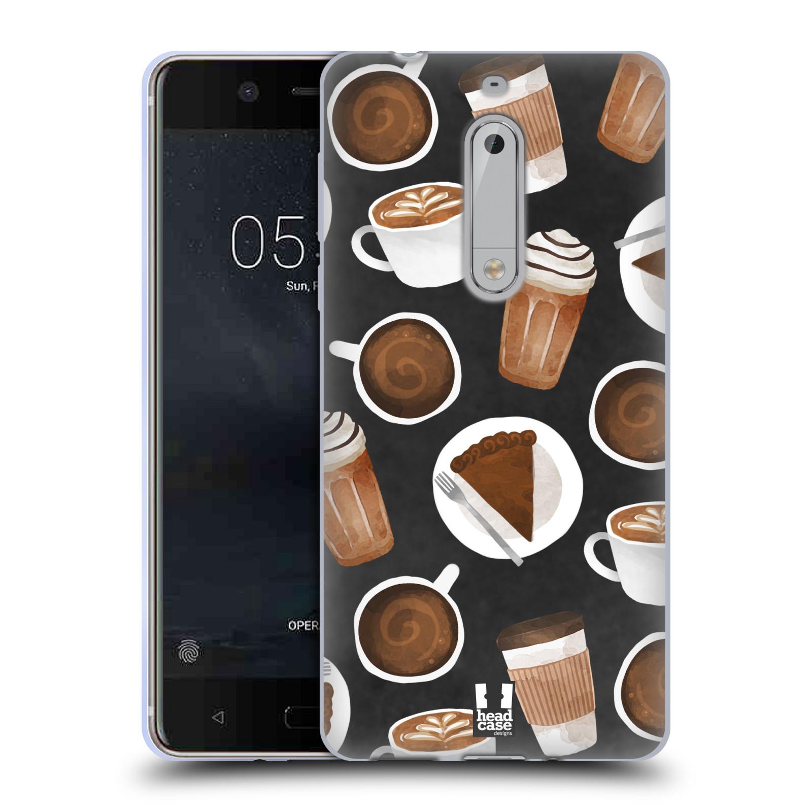 Silikonové pouzdro na mobil Nokia 5 Head Case - Kafíčka a dortík