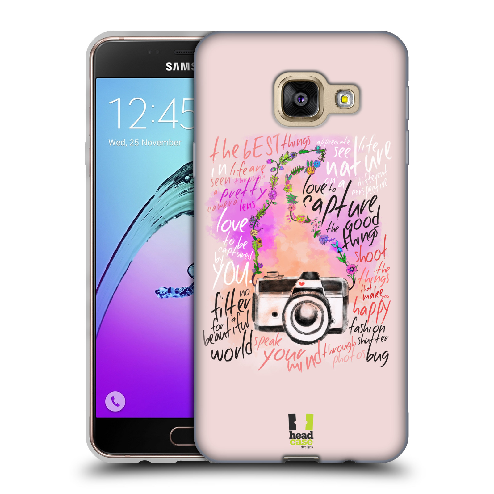 Silikonové pouzdro na mobil Samsung Galaxy A3 (2016) HEAD CASE Shutter  photo empty d490067e5f2