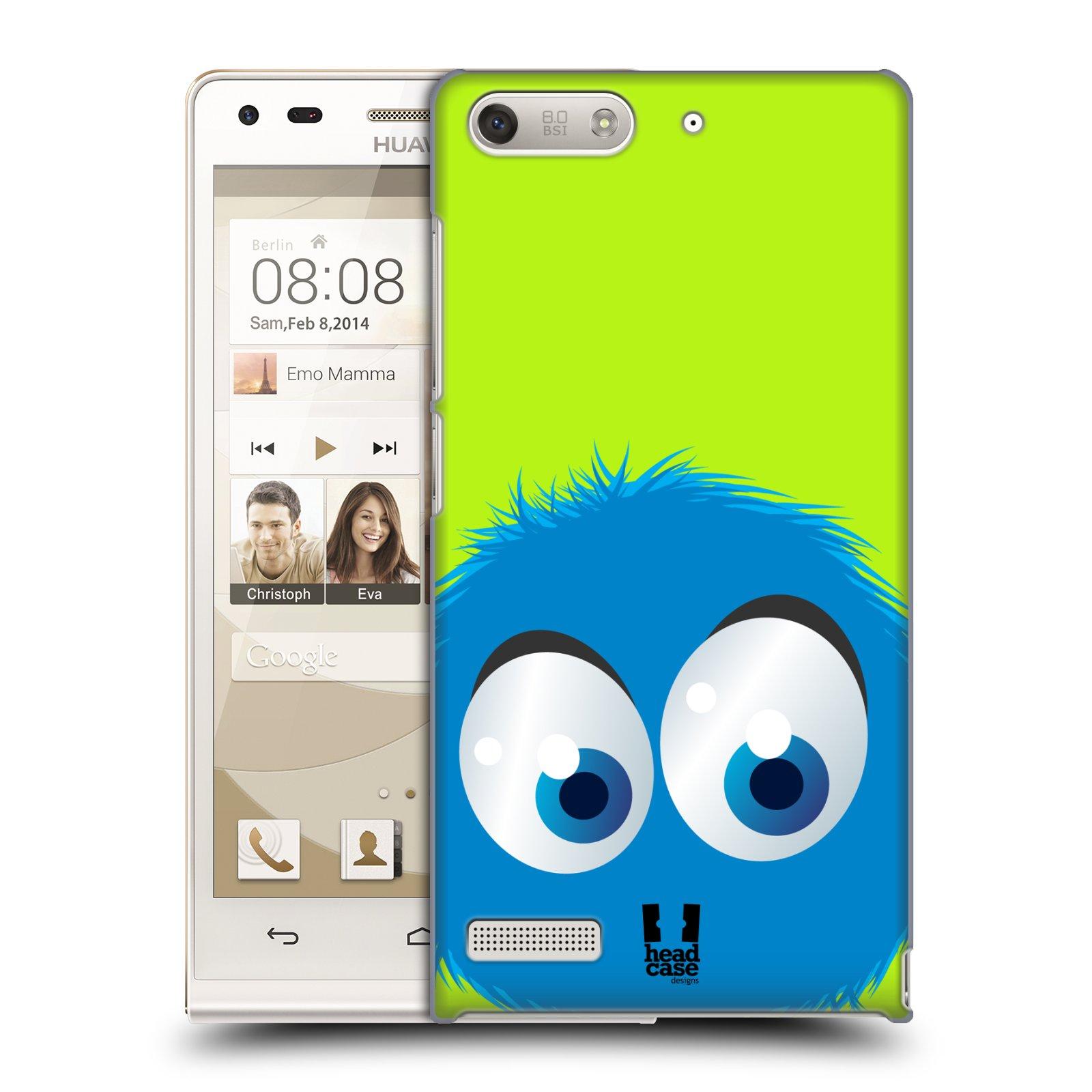 Plastové pouzdro na mobil Huawei Ascend G6 HEAD CASE FUZÍK MODRÝ (Kryt či obal na mobilní telefon Huawei Ascend G6 bez LTE)