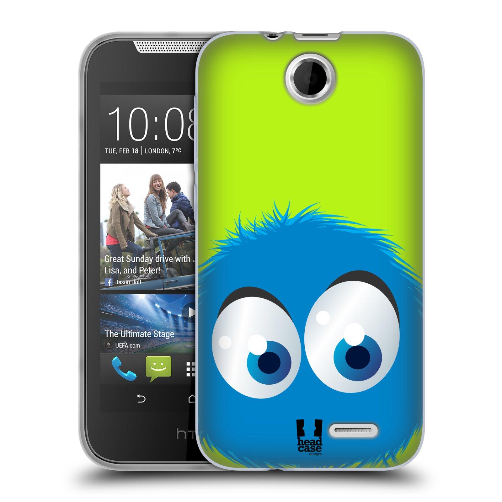 Silikonové pouzdro na mobil HTC Desire 310 HEAD CASE FUZÍK MODRÝ (Silikonový kryt či obal na mobilní telefon HTC Desire 310)