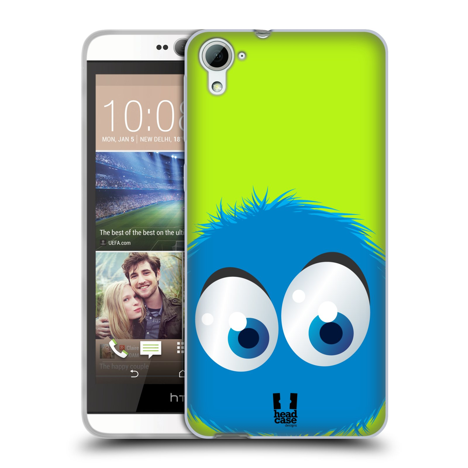 Silikonové pouzdro na mobil HTC Desire 826 HEAD CASE FUZÍK MODRÝ
