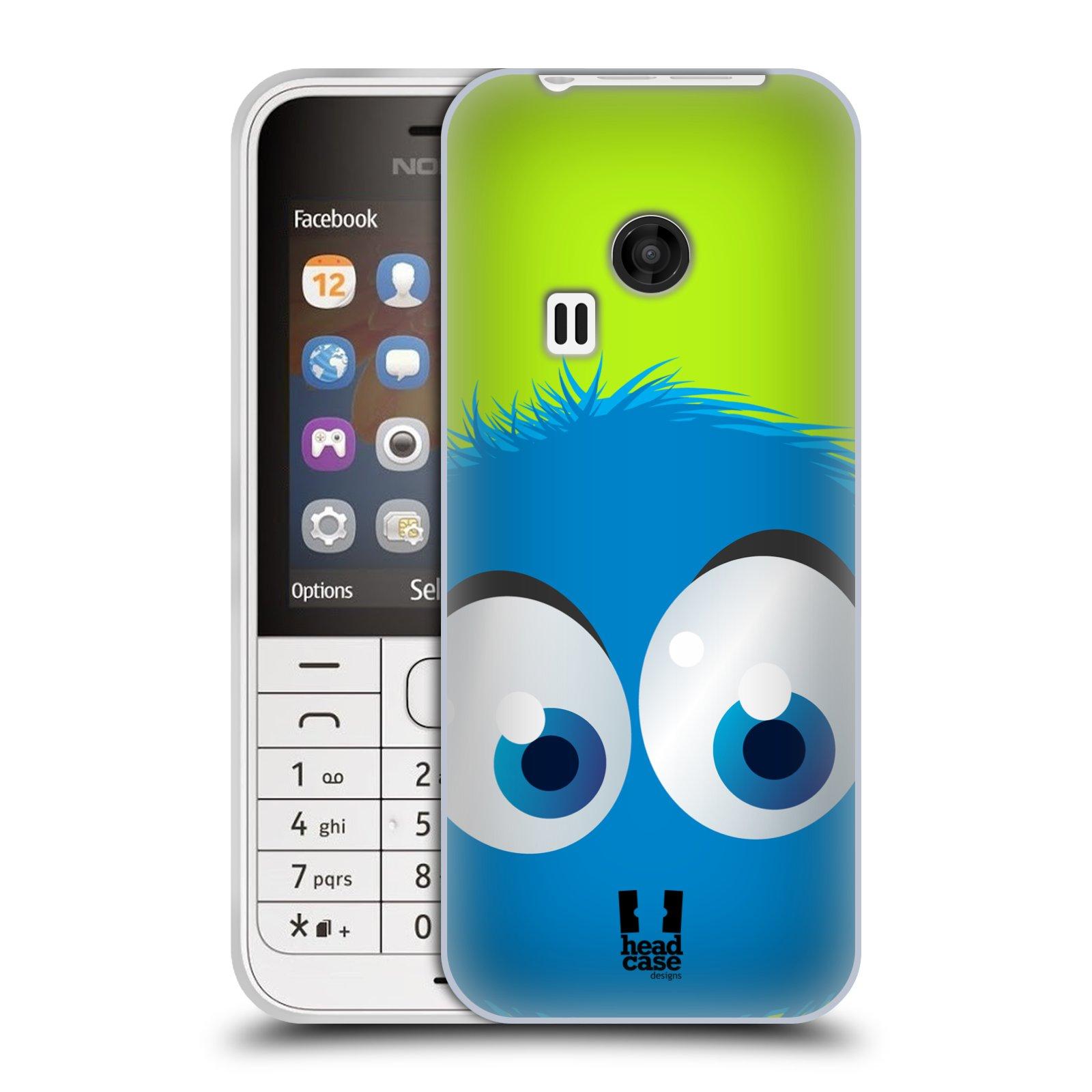 Silikonové pouzdro na mobil Nokia 220 HEAD CASE FUZÍK MODRÝ (Silikonový kryt či obal na mobilní telefon Nokia 220 a 220 Dual SIM)