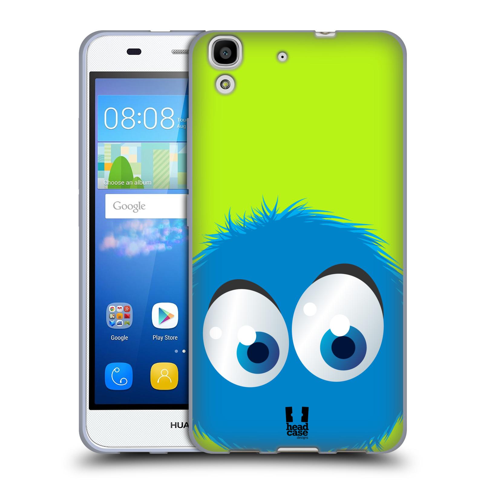 Silikonové pouzdro na mobil Huawei Y6 HEAD CASE FUZÍK MODRÝ