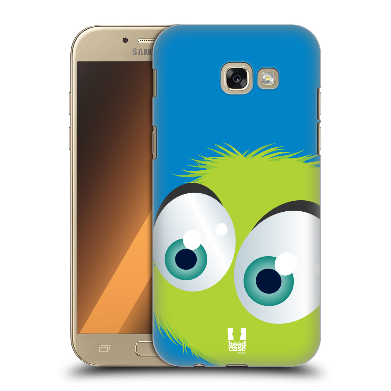 Plastové pouzdro na mobil Samsung Galaxy A5 (2017) HEAD CASE FUZÍK ZELENÝ (Plastový kryt či obal na mobilní telefon Samsung Galaxy A5 2017 SM-A520)