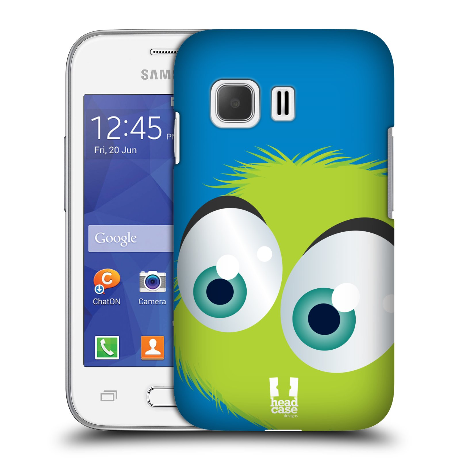 Plastové pouzdro na mobil Samsung Galaxy Young 2 HEAD CASE FUZÍK ZELENÝ (Kryt či obal na mobilní telefon Samsung Galaxy Young 2 SM-G130)