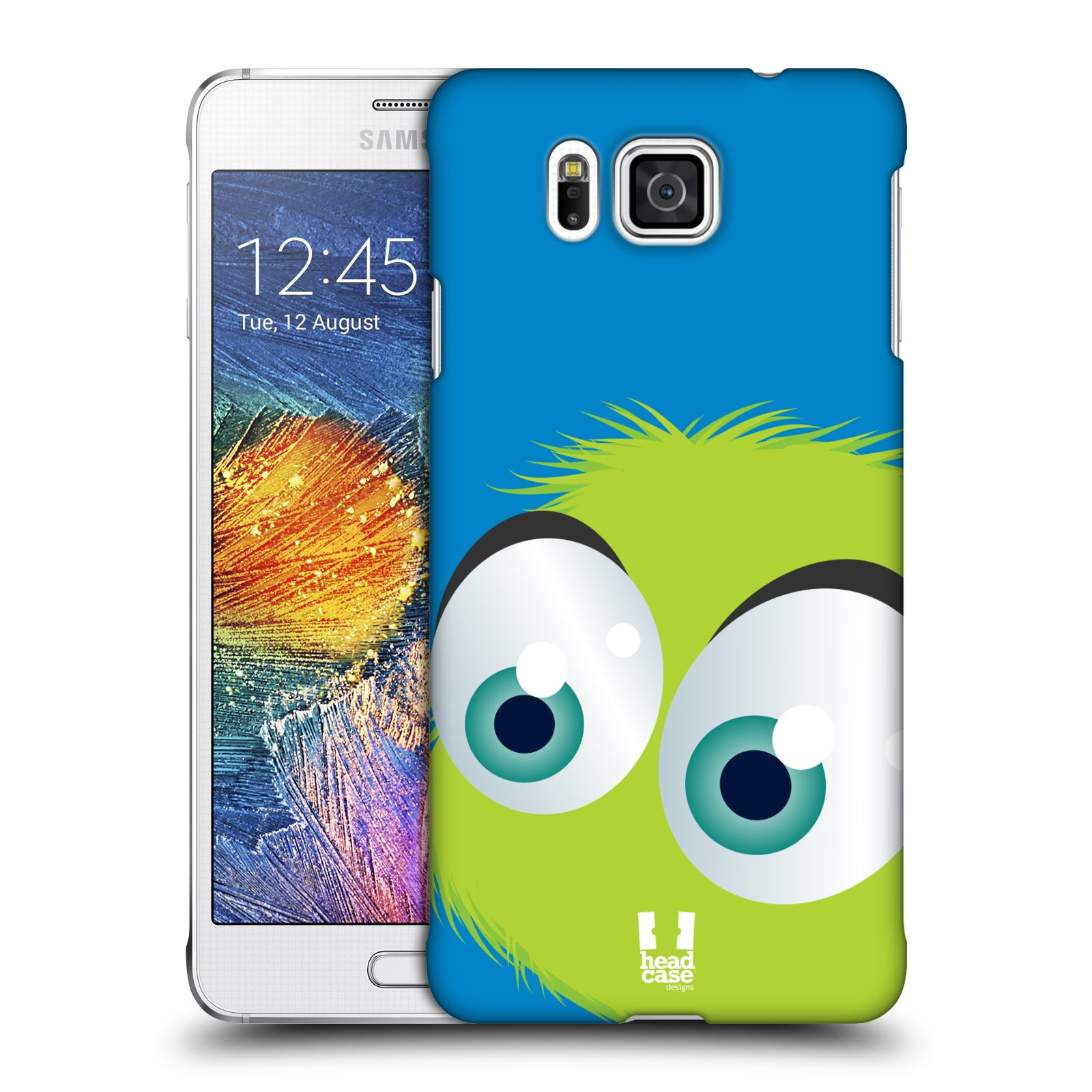 Plastové pouzdro na mobil Samsung Galaxy Alpha HEAD CASE FUZÍK ZELENÝ (Kryt či obal na mobilní telefon Samsung Galaxy Alpha SM-G850)