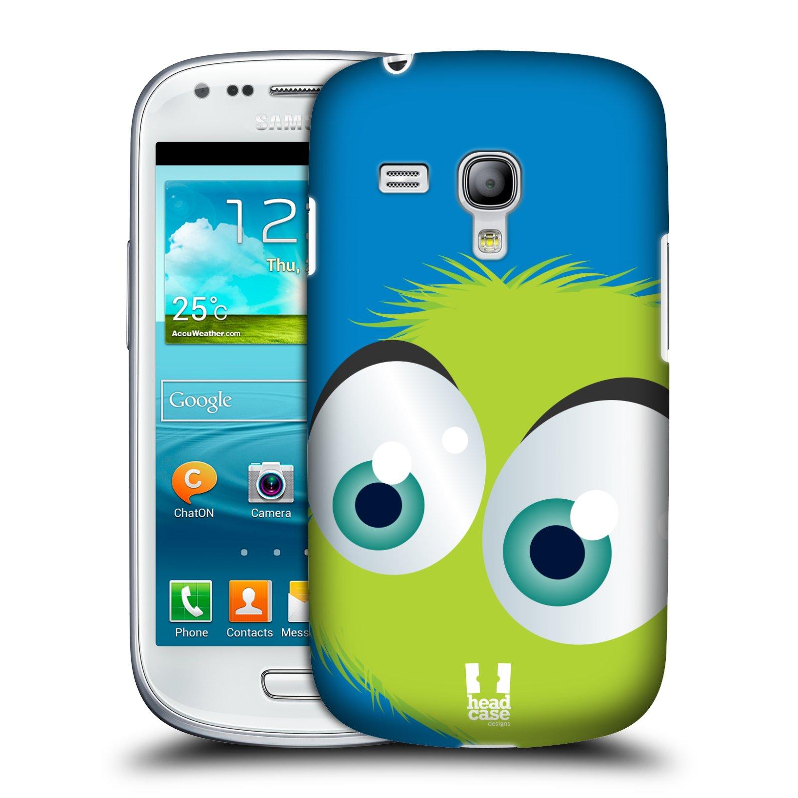 Plastové pouzdro na mobil Samsung Galaxy S III Mini HEAD CASE FUZÍK ZELENÝ (Kryt či obal na mobilní telefon Samsung Galaxy S III Mini GT-i8190)