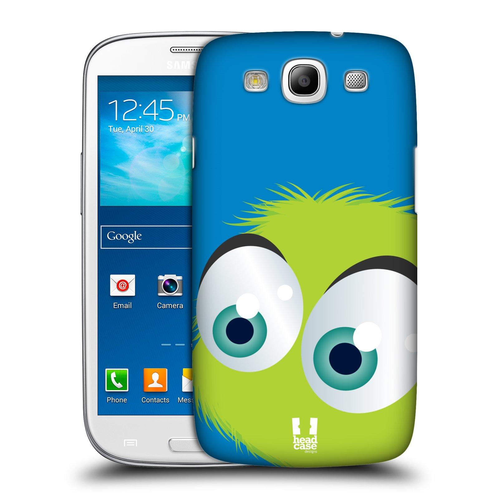Plastové pouzdro na mobil Samsung Galaxy S III HEAD CASE FUZÍK ZELENÝ (Kryt či obal na mobilní telefon Samsung Galaxy S III GT-i9300)