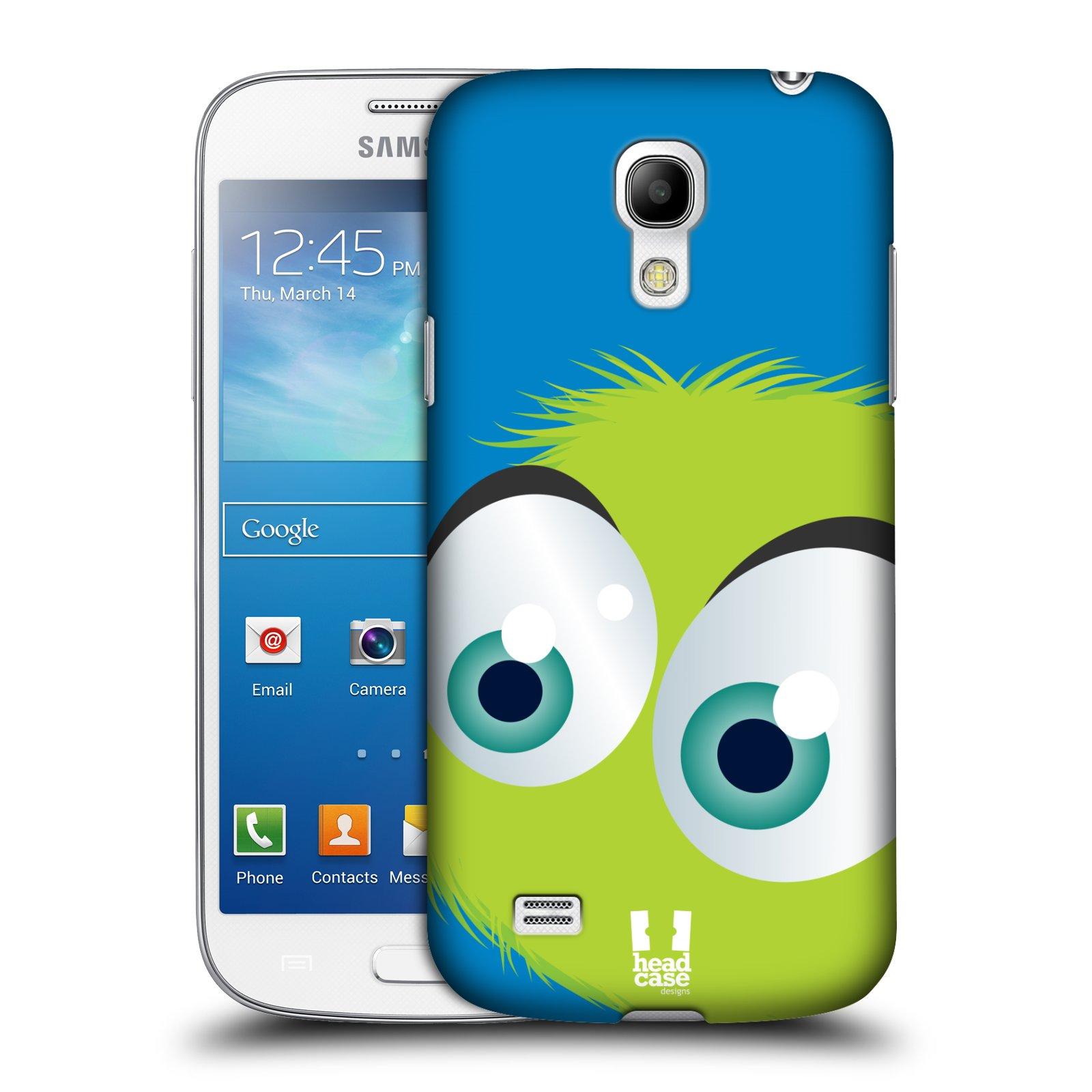 Plastové pouzdro na mobil Samsung Galaxy S4 Mini HEAD CASE FUZÍK ZELENÝ (Kryt či obal na mobilní telefon Samsung Galaxy S4 Mini GT-i9195 / i9190 (nepasuje na verzi Black Edition))