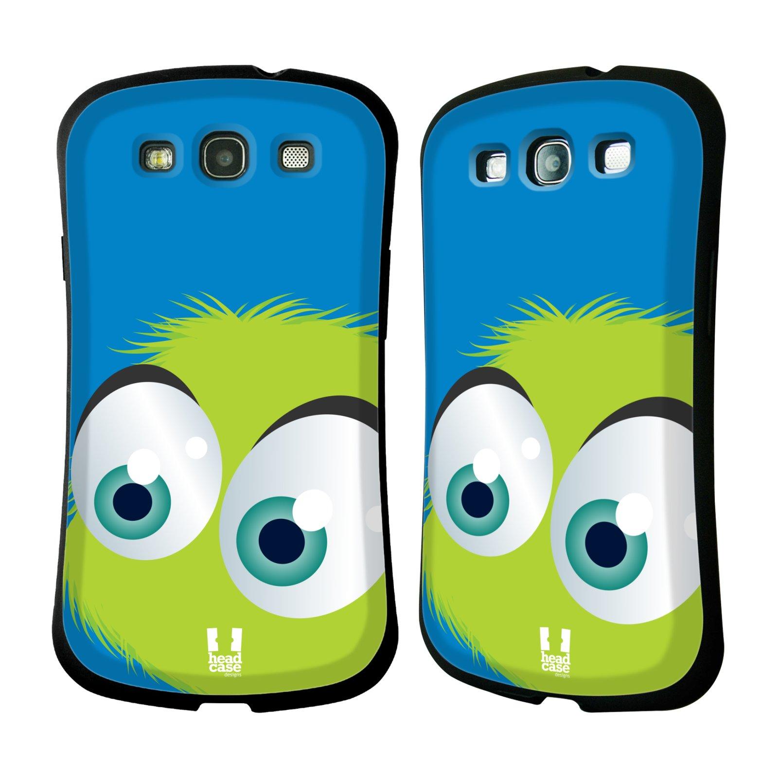 Nárazuvzdorné pouzdro na mobil Samsung Galaxy S III HEAD CASE FUZÍK ZELENÝ (Odolný nárazuvzdorný silikonový kryt či obal na mobilní telefon Samsung Galaxy S III GT-i9300)