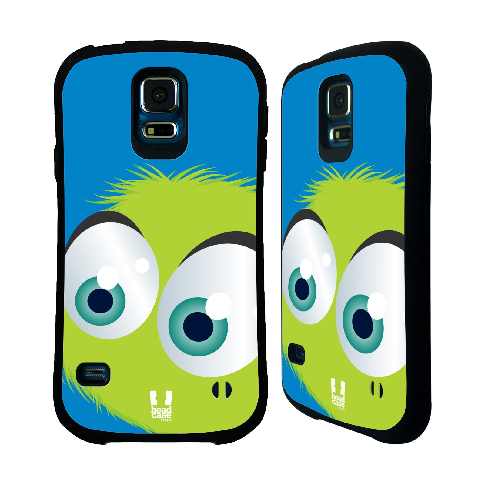 Nárazuvzdorné pouzdro na mobil Samsung Galaxy S5 HEAD CASE FUZÍK ZELENÝ (Odolný nárazuvzdorný silikonový kryt či obal na mobilní telefon Samsung Galaxy S5 SM-G900F)