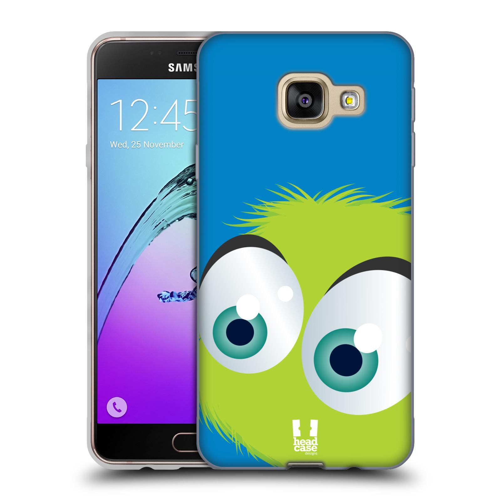Silikonové pouzdro na mobil Samsung Galaxy A3 (2016) HEAD CASE FUZÍK ZELENÝ (Silikonový kryt či obal na mobilní telefon Samsung Galaxy A3 (2016) SM-A310F)