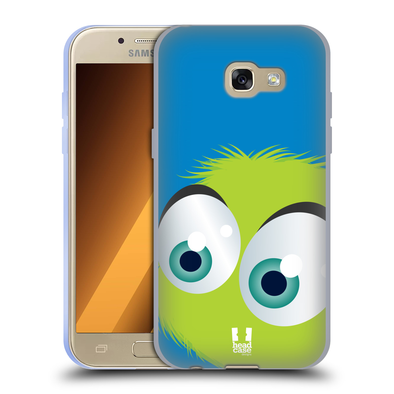 Silikonové pouzdro na mobil Samsung Galaxy A3 (2017) HEAD CASE FUZÍK ZELENÝ (Silikonový kryt či obal na mobilní telefon Samsung Galaxy A3 2017 SM-A320)