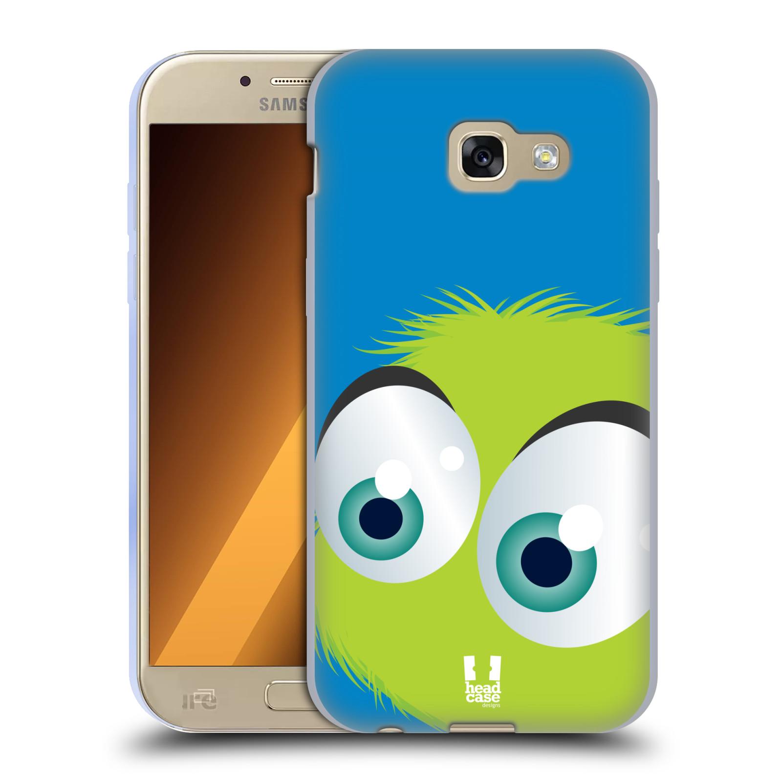 Silikonové pouzdro na mobil Samsung Galaxy A5 (2017) HEAD CASE FUZÍK ZELENÝ (Silikonový kryt či obal na mobilní telefon Samsung Galaxy A5 2017 SM-A520)