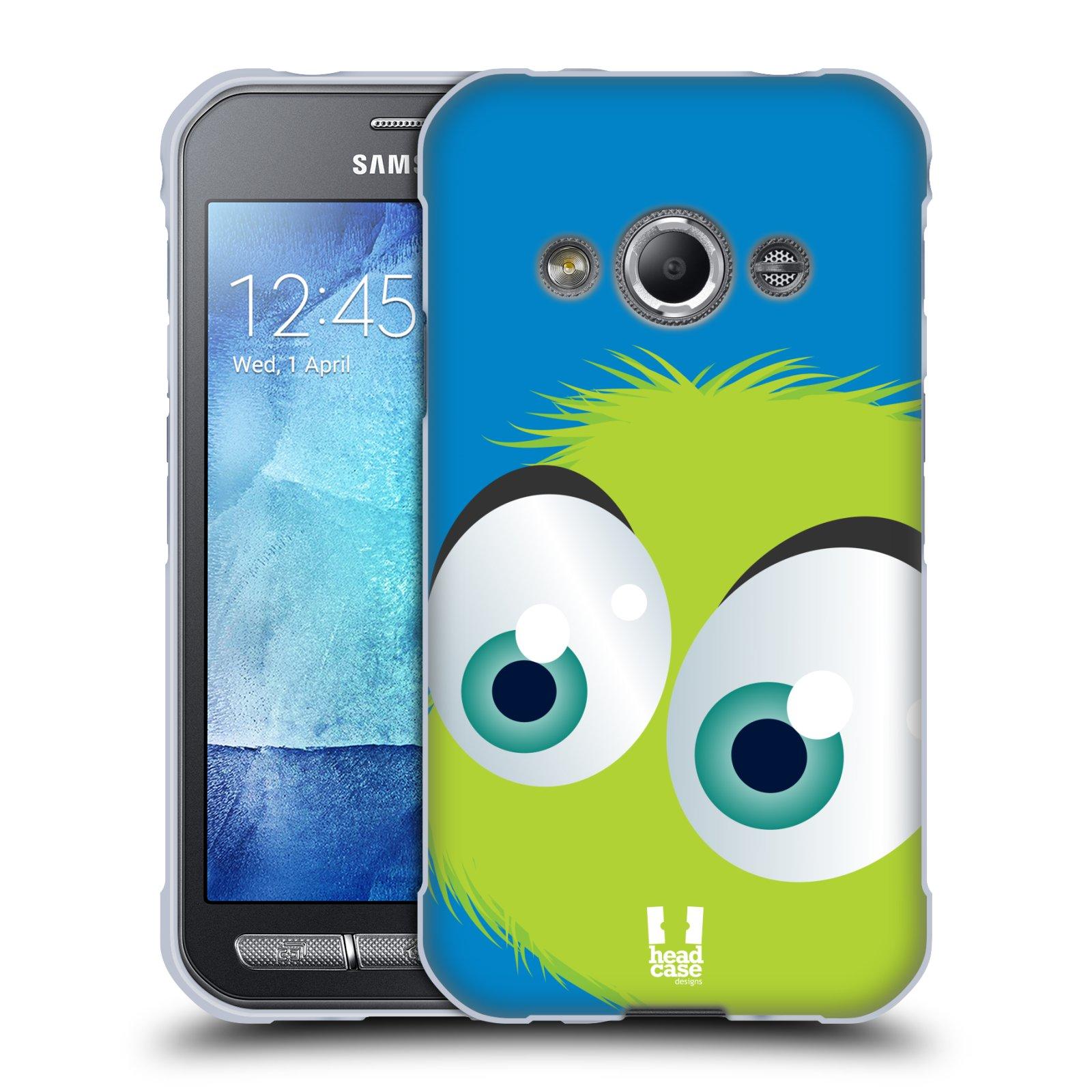 Silikonové pouzdro na mobil Samsung Galaxy Xcover 3 HEAD CASE FUZÍK ZELENÝ (Silikonový kryt či obal na mobilní telefon Samsung Galaxy Xcover 3 SM-G388F)